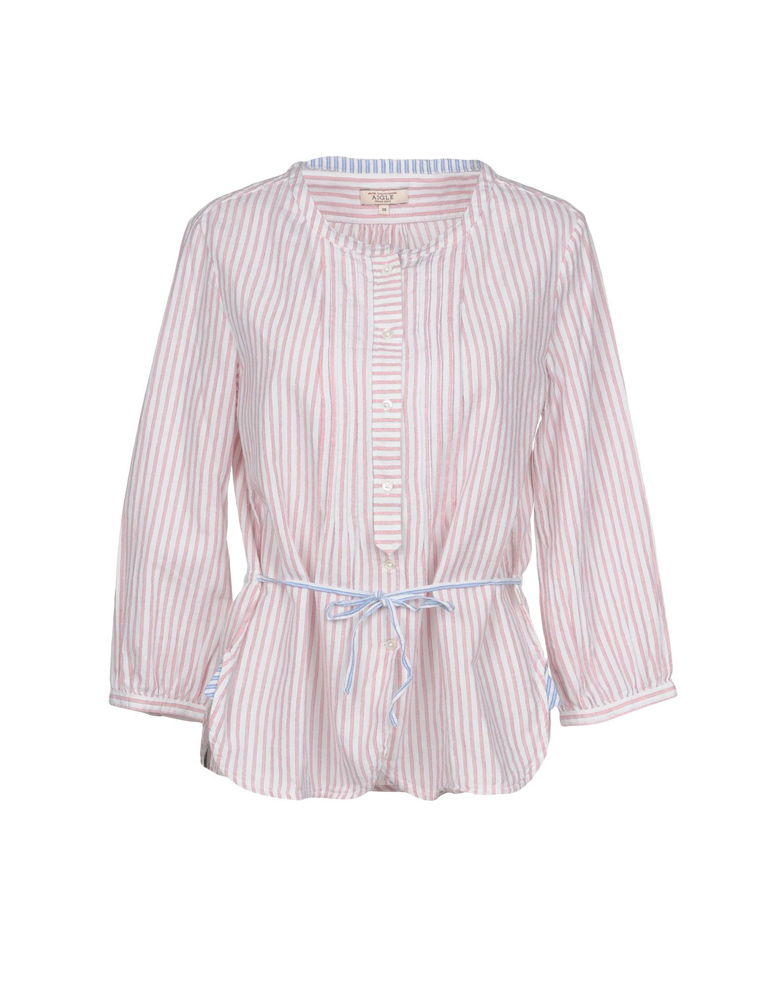 AIGLE Striped Shirt in White