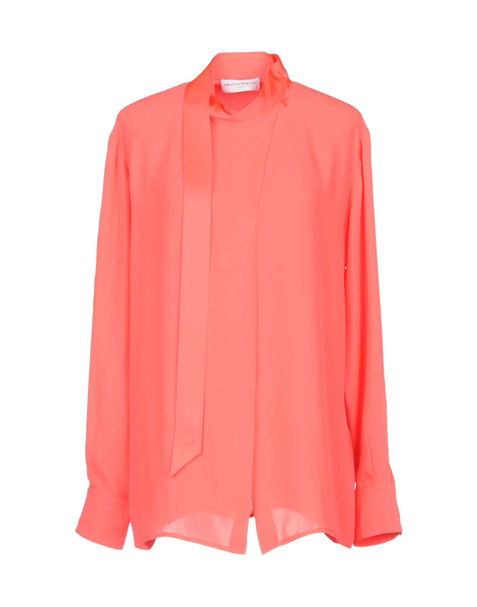 AMANDA WAKELEY Shirts & Blouses With Bow in Coral