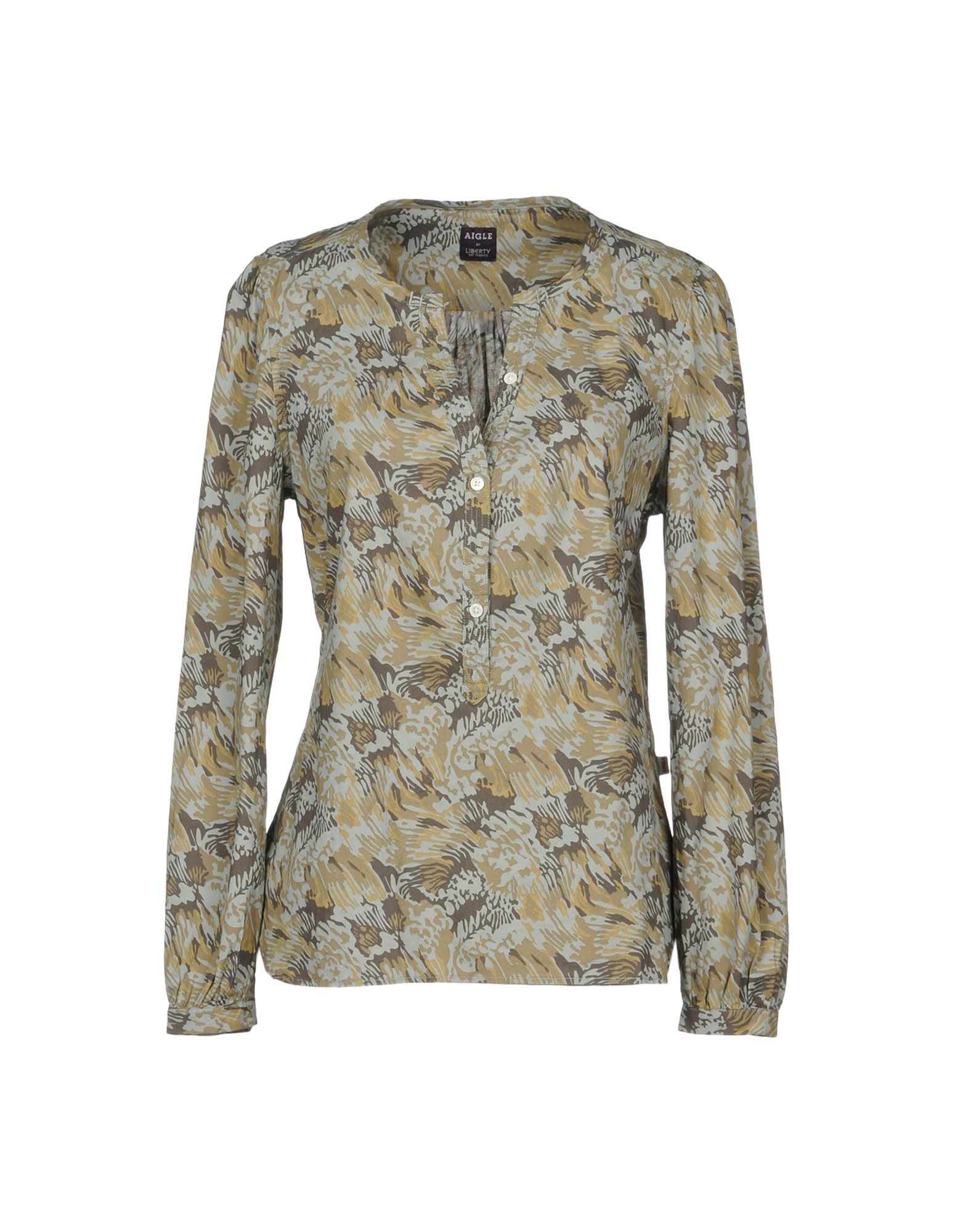AIGLE Patterned Shirts & Blouses in Military Green
