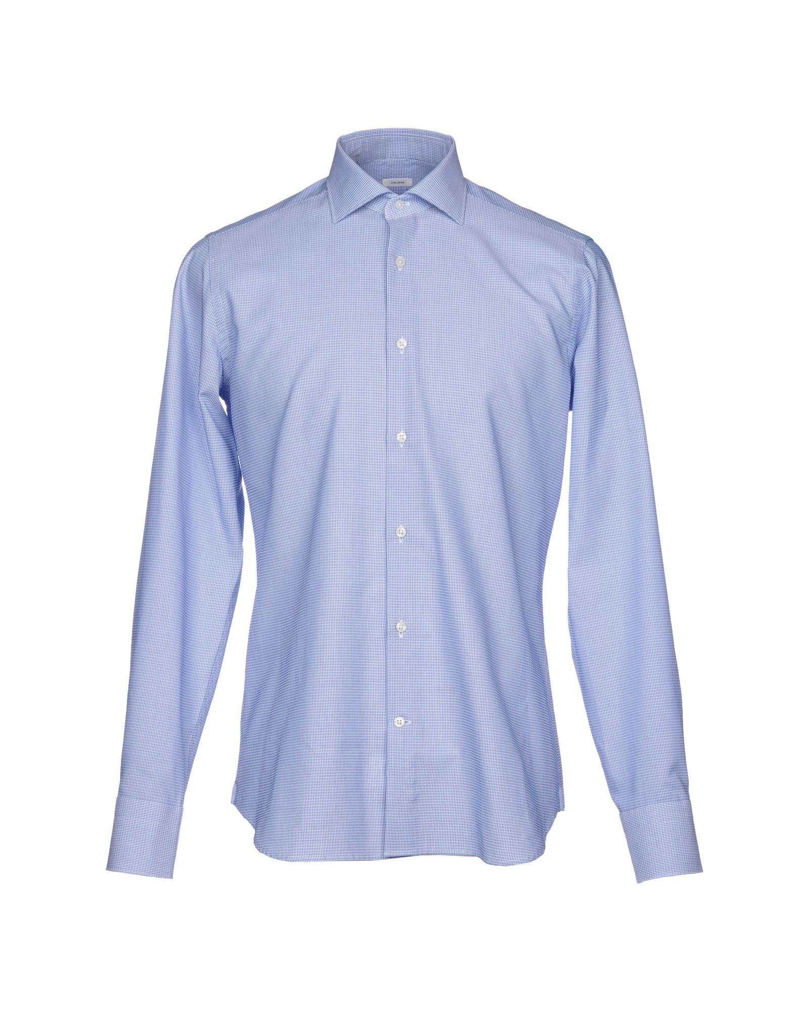 《セール開催中》CALIBAN メンズ シャツ アジュールブルー 42 コットン 100%