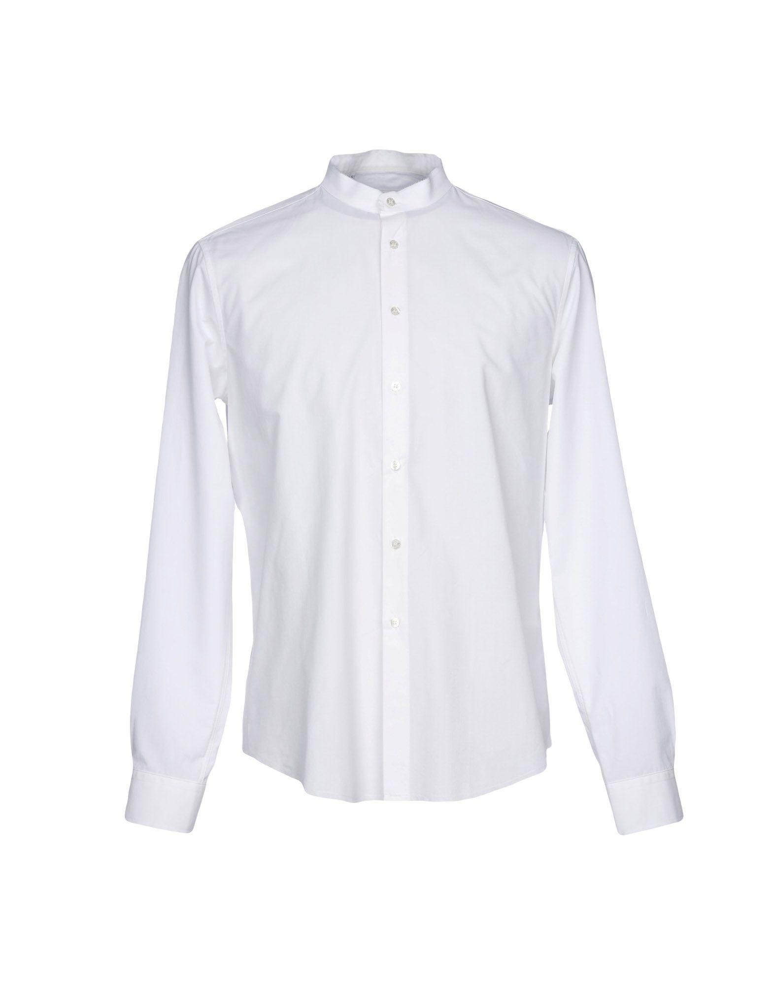《送料無料》MSGM メンズ シャツ ホワイト 40 コットン 100%