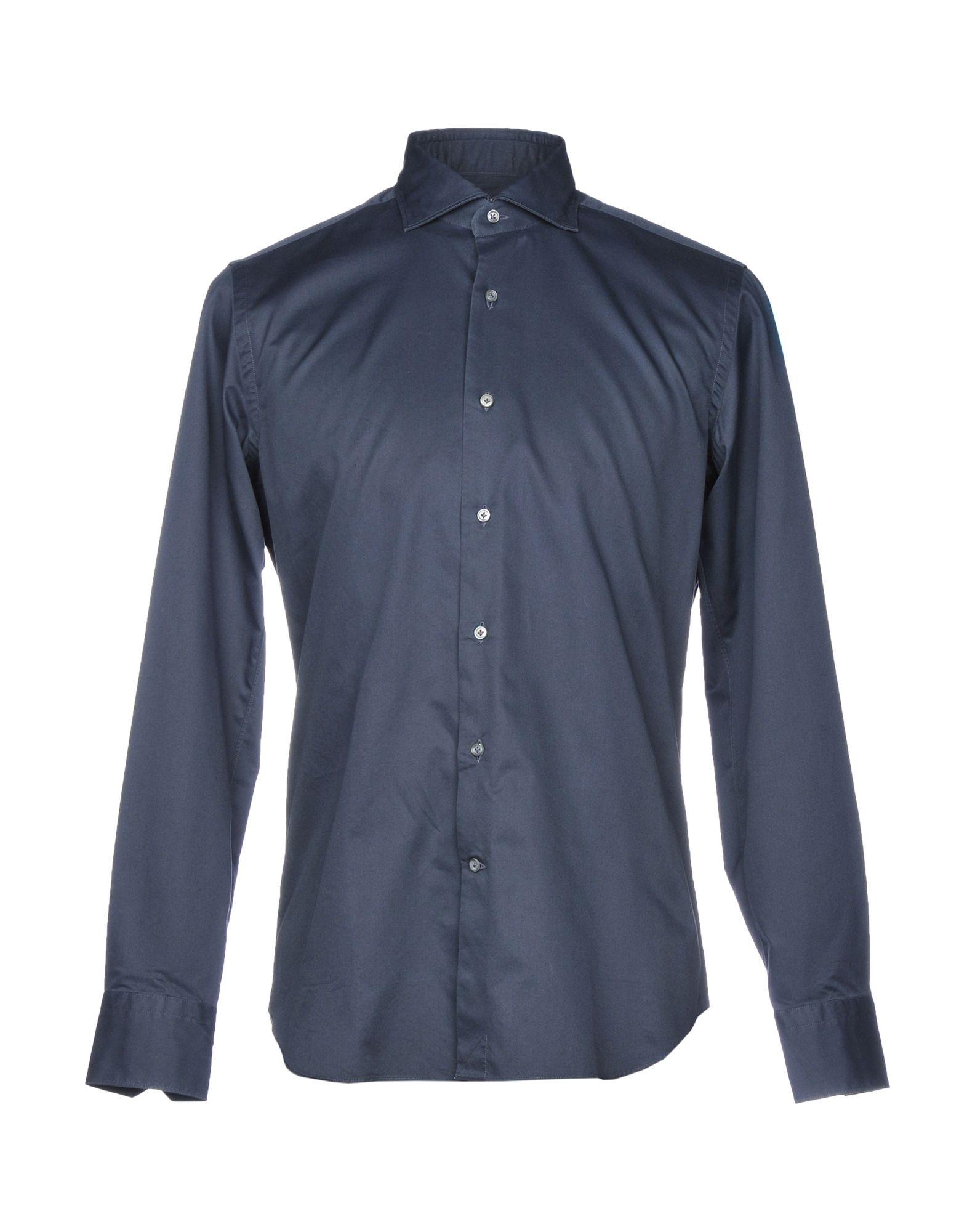 《送料無料》ALESSANDRO GHERARDI メンズ シャツ スチールグレー 38 コットン 100%