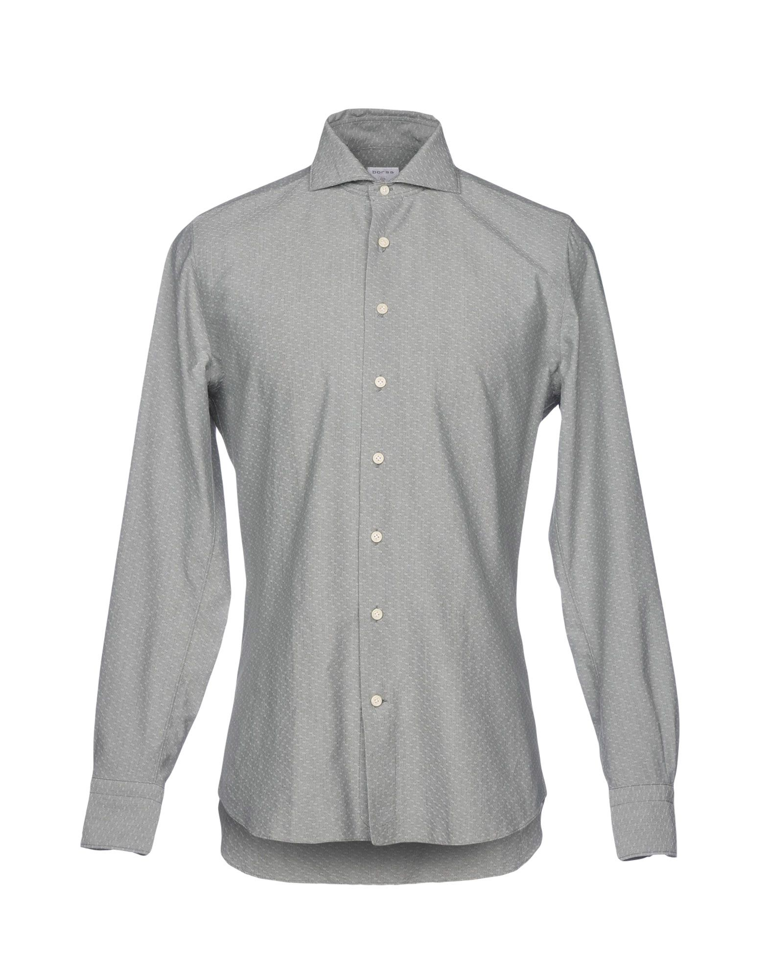 BORSA Solid Color Shirt in Light Grey