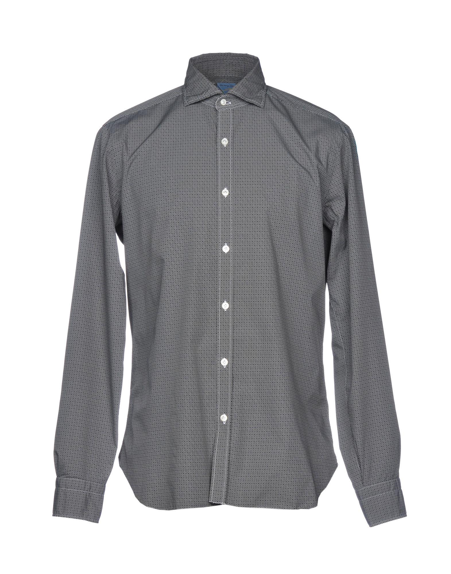 《送料無料》BARBA Napoli メンズ シャツ ブラック 41 コットン 100%