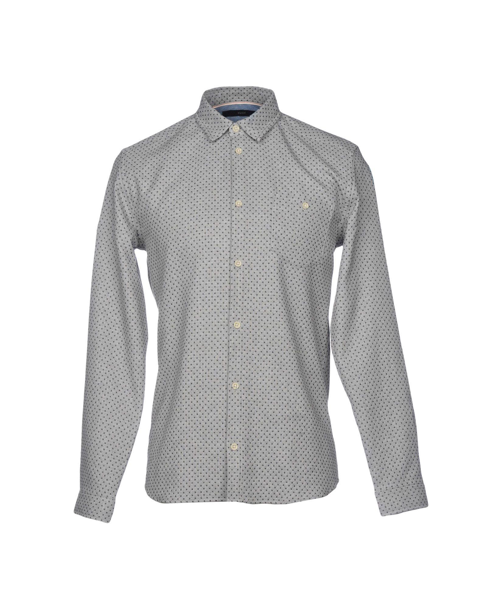 《送料無料》SUIT メンズ シャツ グレー S コットン 100%