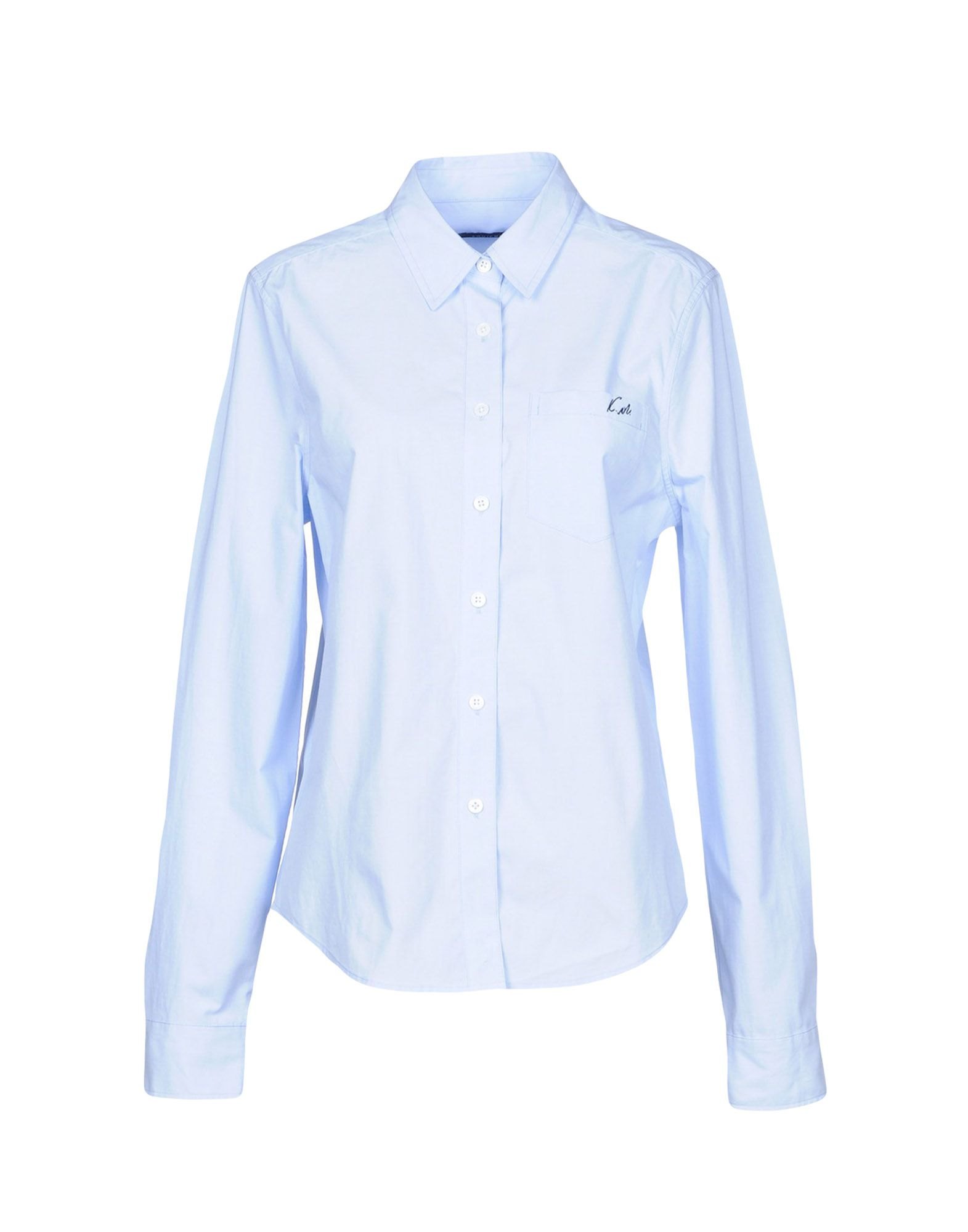 KATE MOSS EQUIPMENT Solid Color Shirts & Blouses in Azure