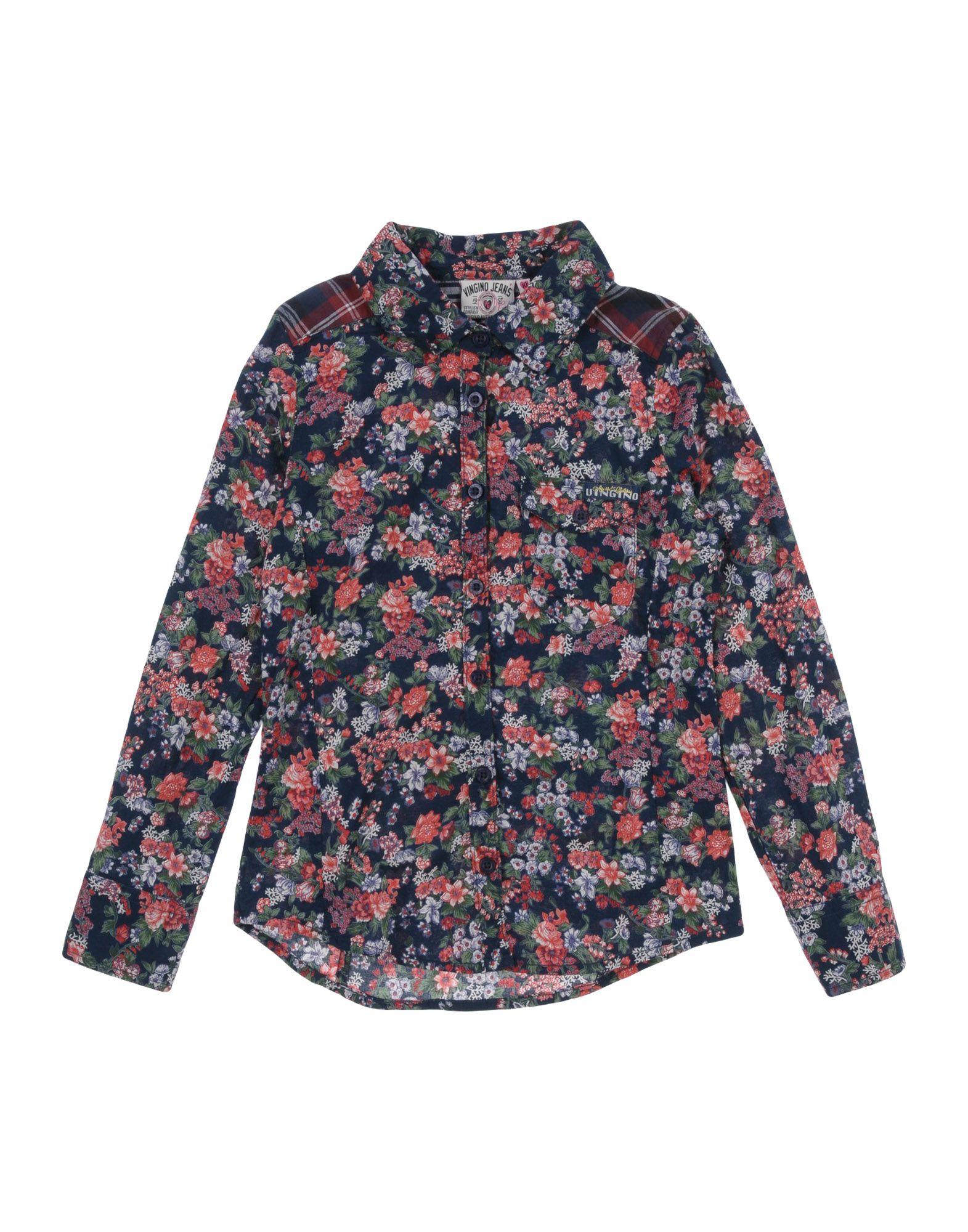 VINGINO Floral Shirts & Blouses in Dark Blue