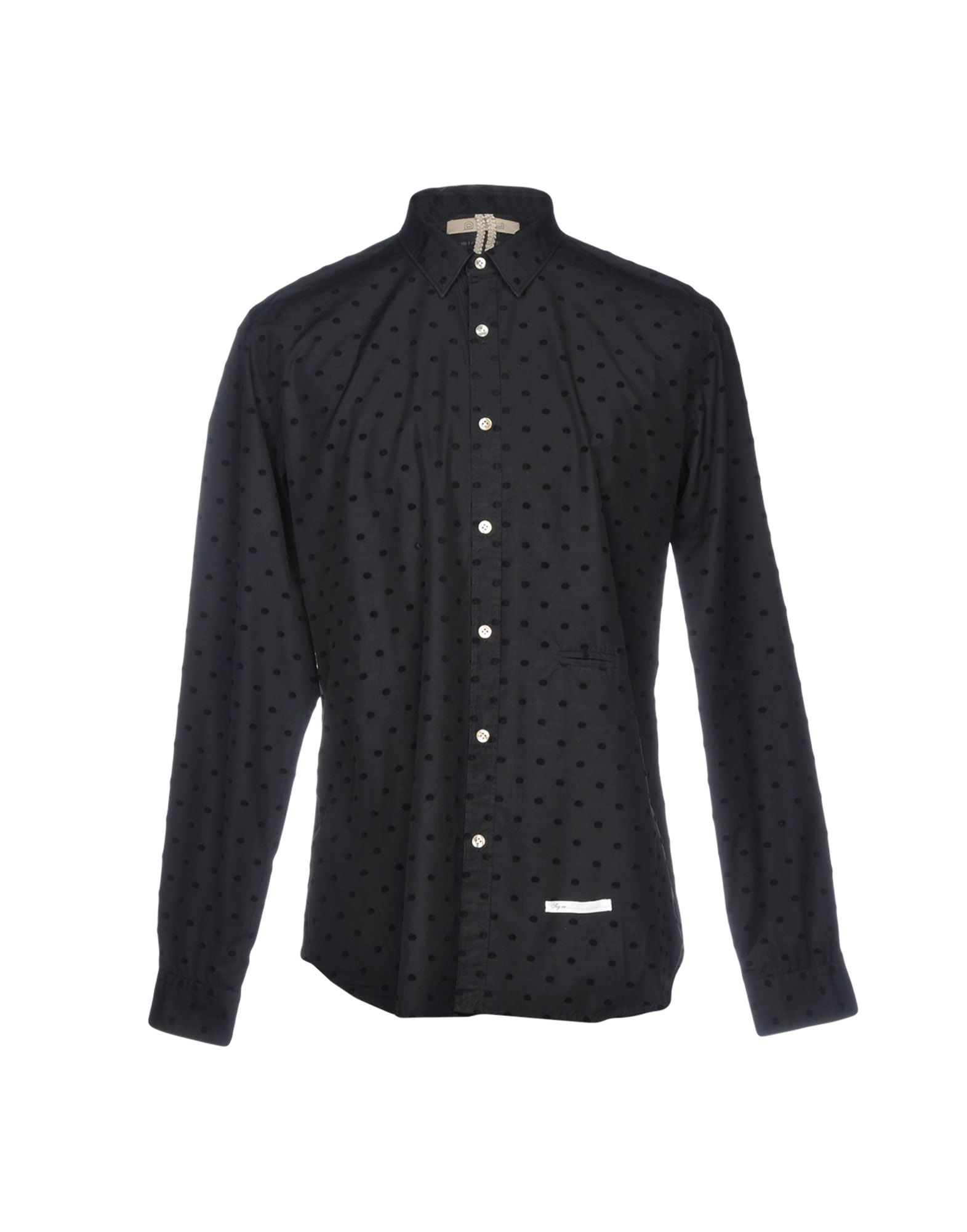DNL Solid Color Shirt in Black
