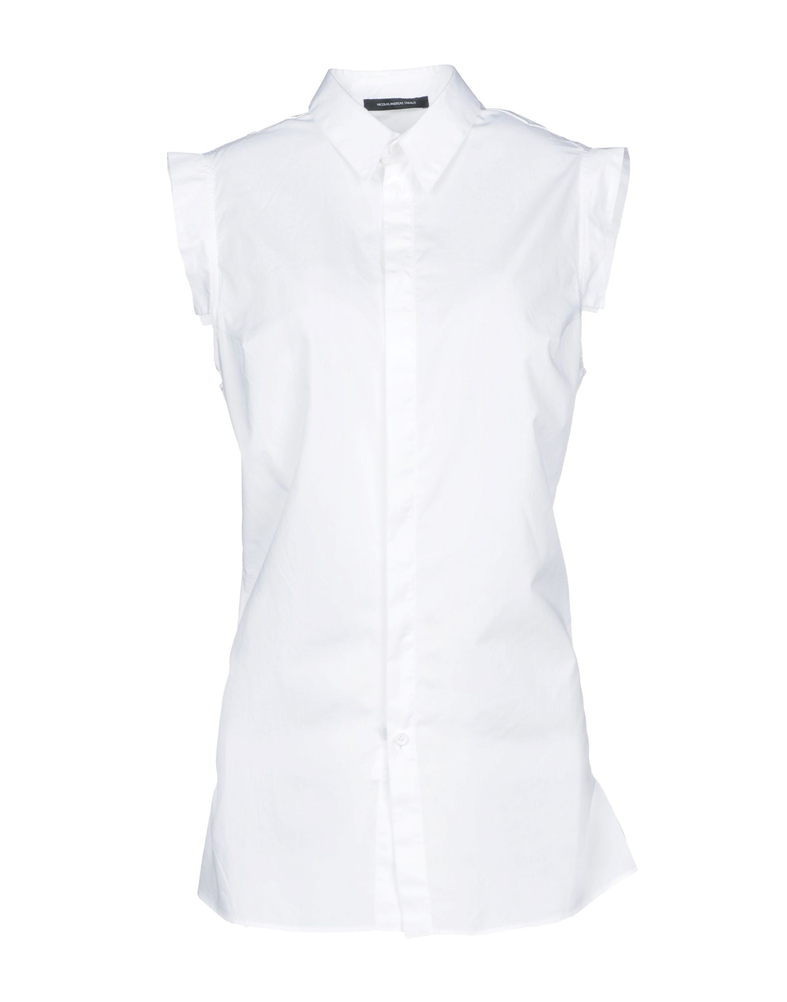 NICOLAS ANDREAS TARALIS Solid Color Shirts & Blouses in White