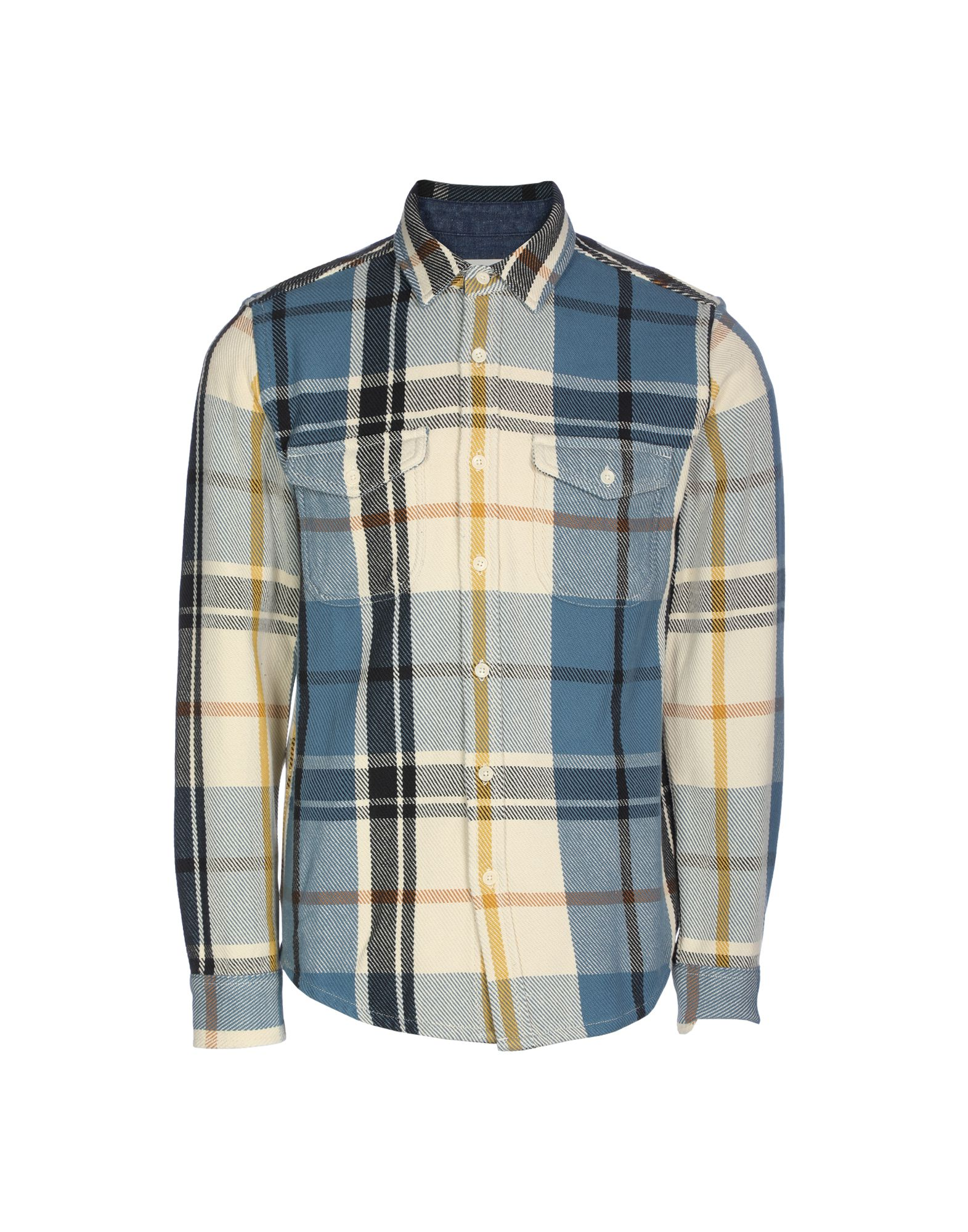 OUTERKNOWN Checked Shirt in Pastel Blue