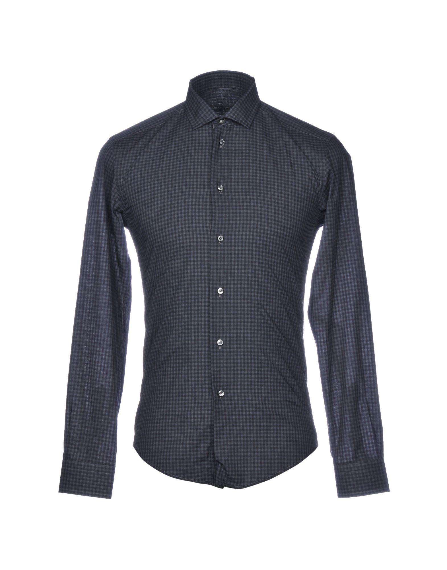 《送料無料》BRIAN DALES メンズ シャツ スチールグレー 38 コットン 100%