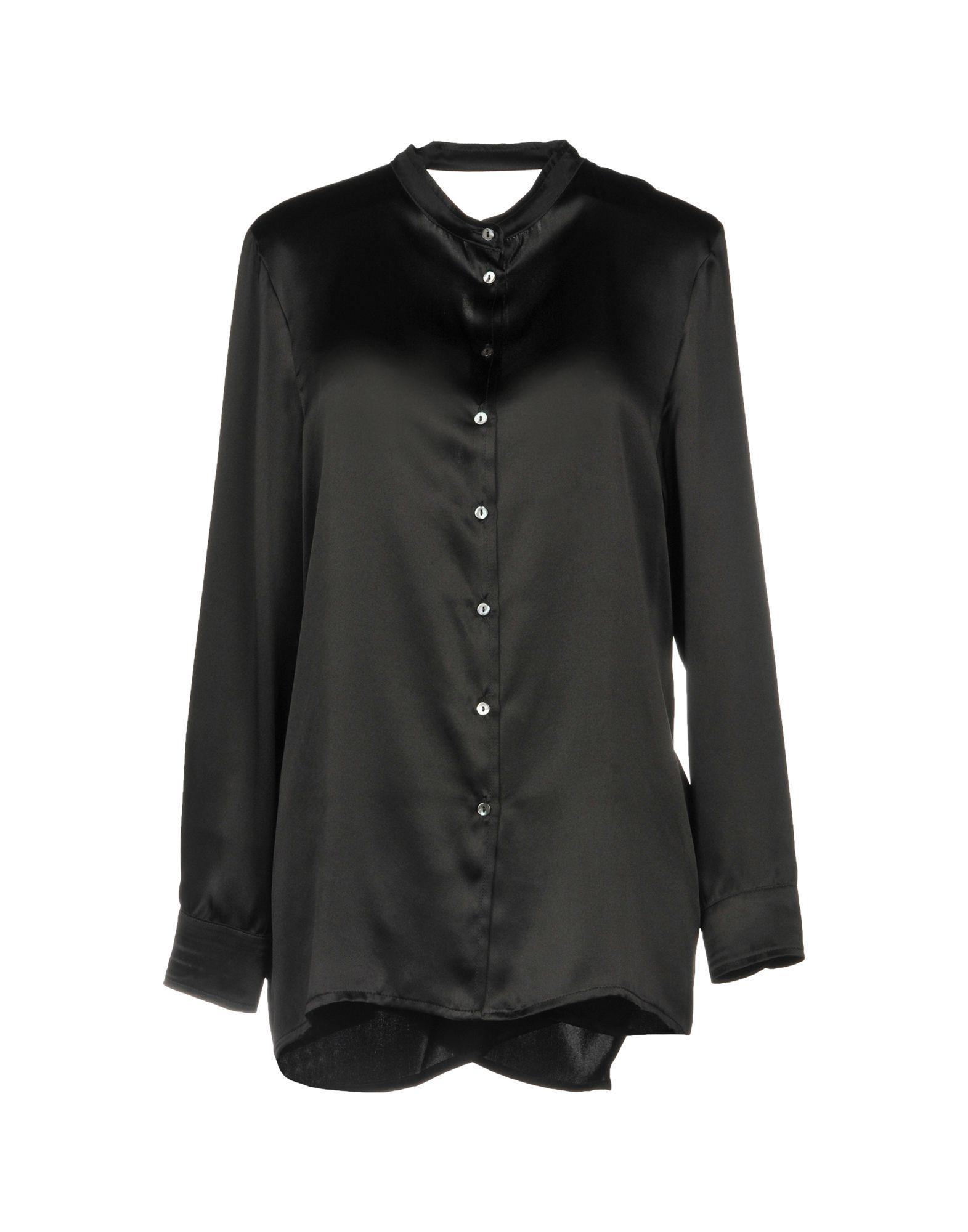 《セール開催中》ATTIC AND BARN レディース シャツ ブラック 40 シルク 100%