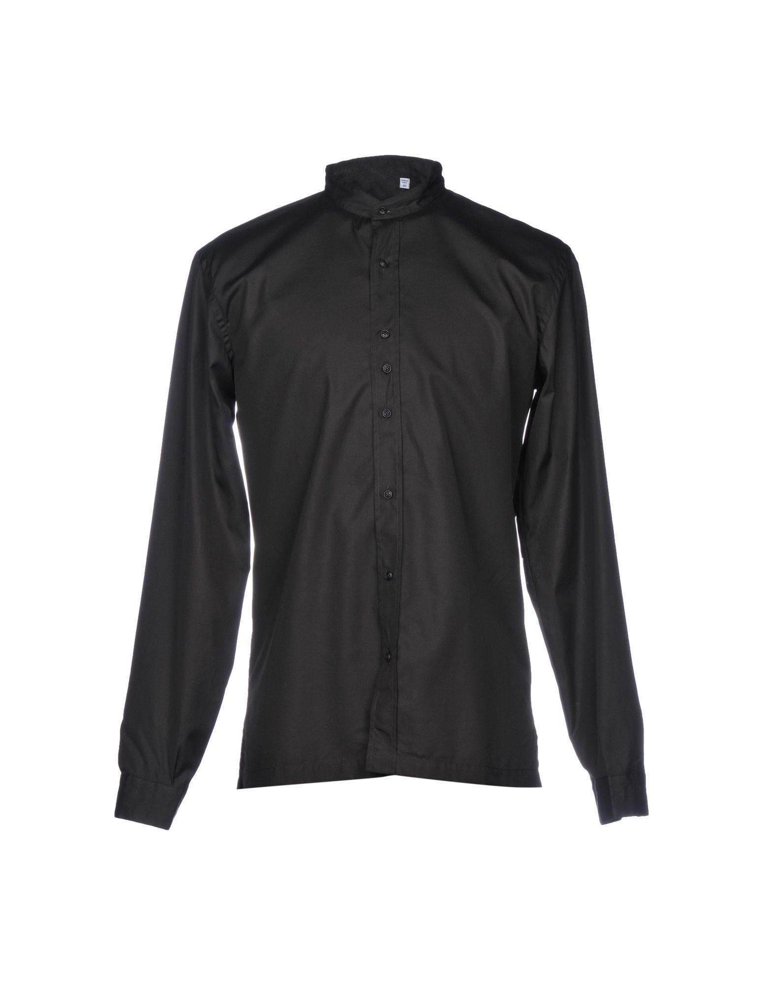 《送料無料》COSTUMEIN メンズ シャツ ブラック 50 コットン 100%