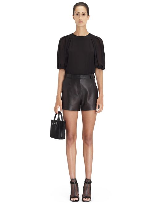 BLACK SILK BLOUSE - Lanvin