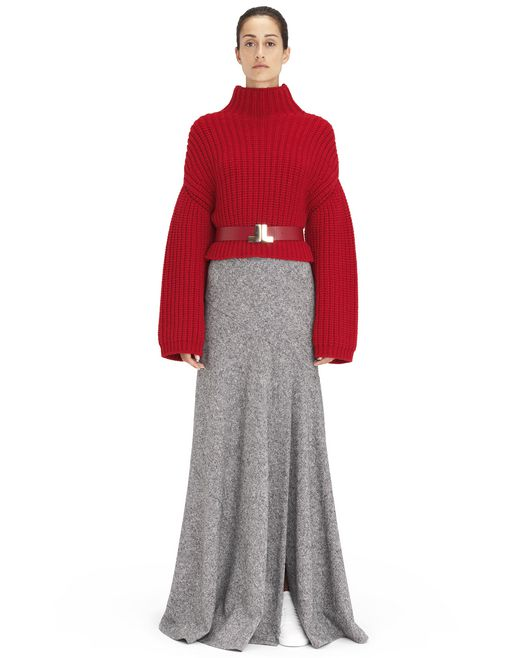 RED COCOON KNIT SWEATER - Lanvin