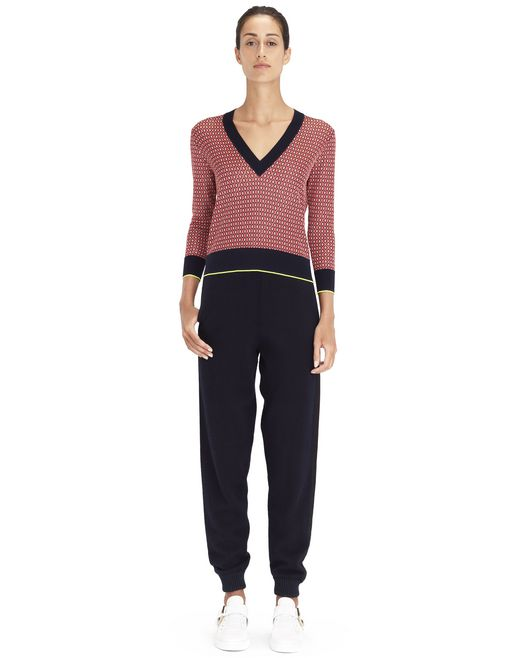 BURLINGTON JACQUARD SWEATER   - Lanvin