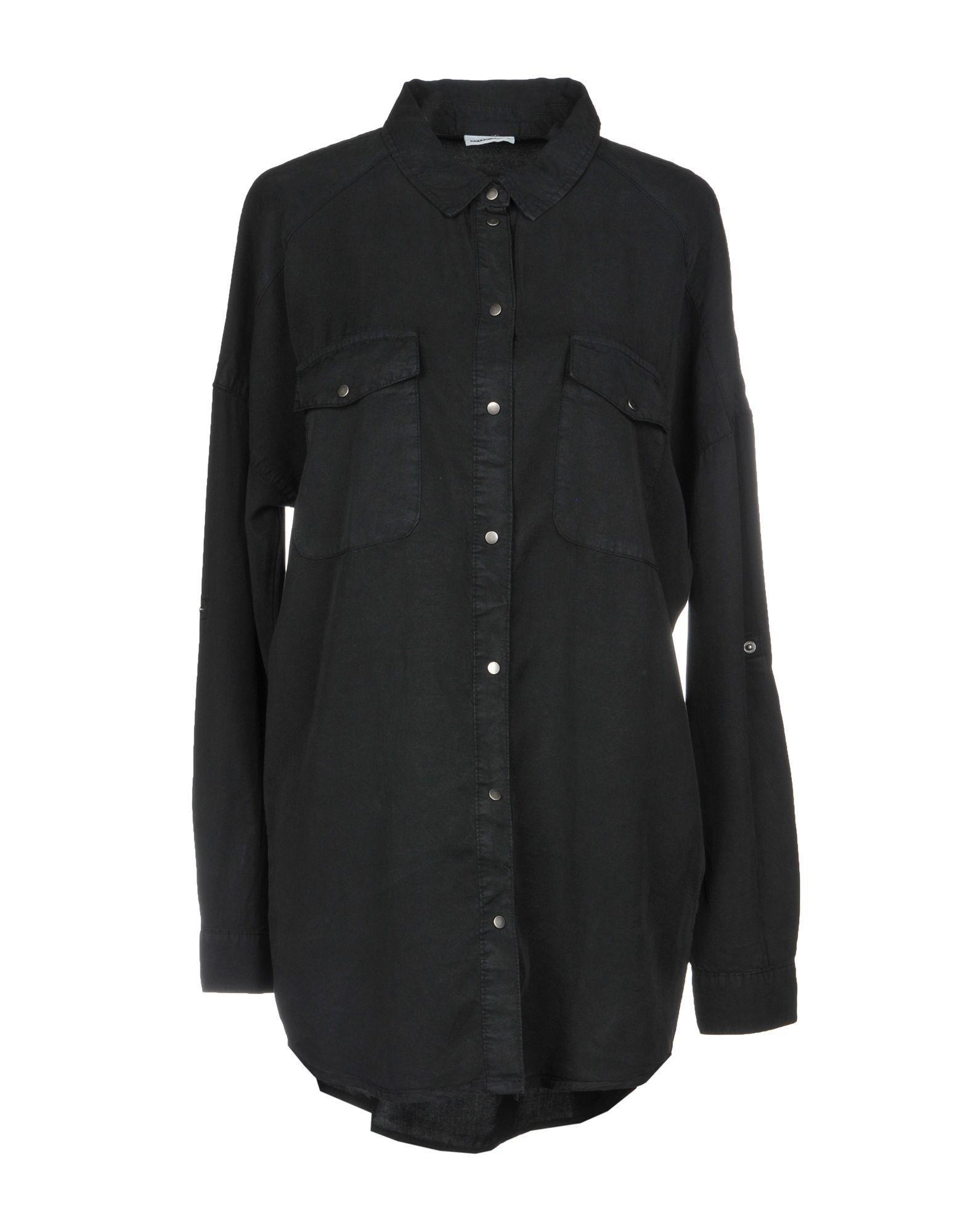 《送料無料》NOISY MAY レディース シャツ ブラック XS テンセル 100%