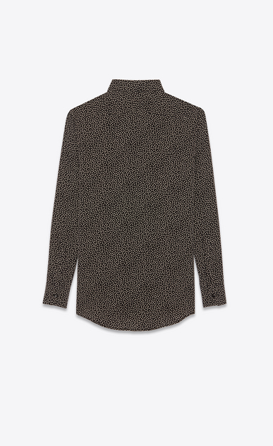 SAINT LAURENT Classic Shirts Woman Shirt in black printed with white polka dots b_V4