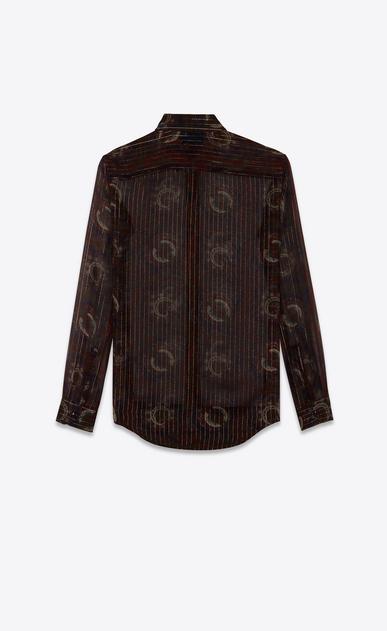 SAINT LAURENT クラシックシャツ レディース クラシックシャツ(ネイビーブルー/バーガンティ/ゴールドシルク/ペイズリープリント) b_V4