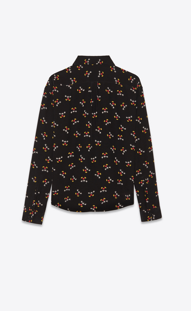 SAINT LAURENT Classic Shirts Woman Shirt in black with a Mickey Mouse print b_V4