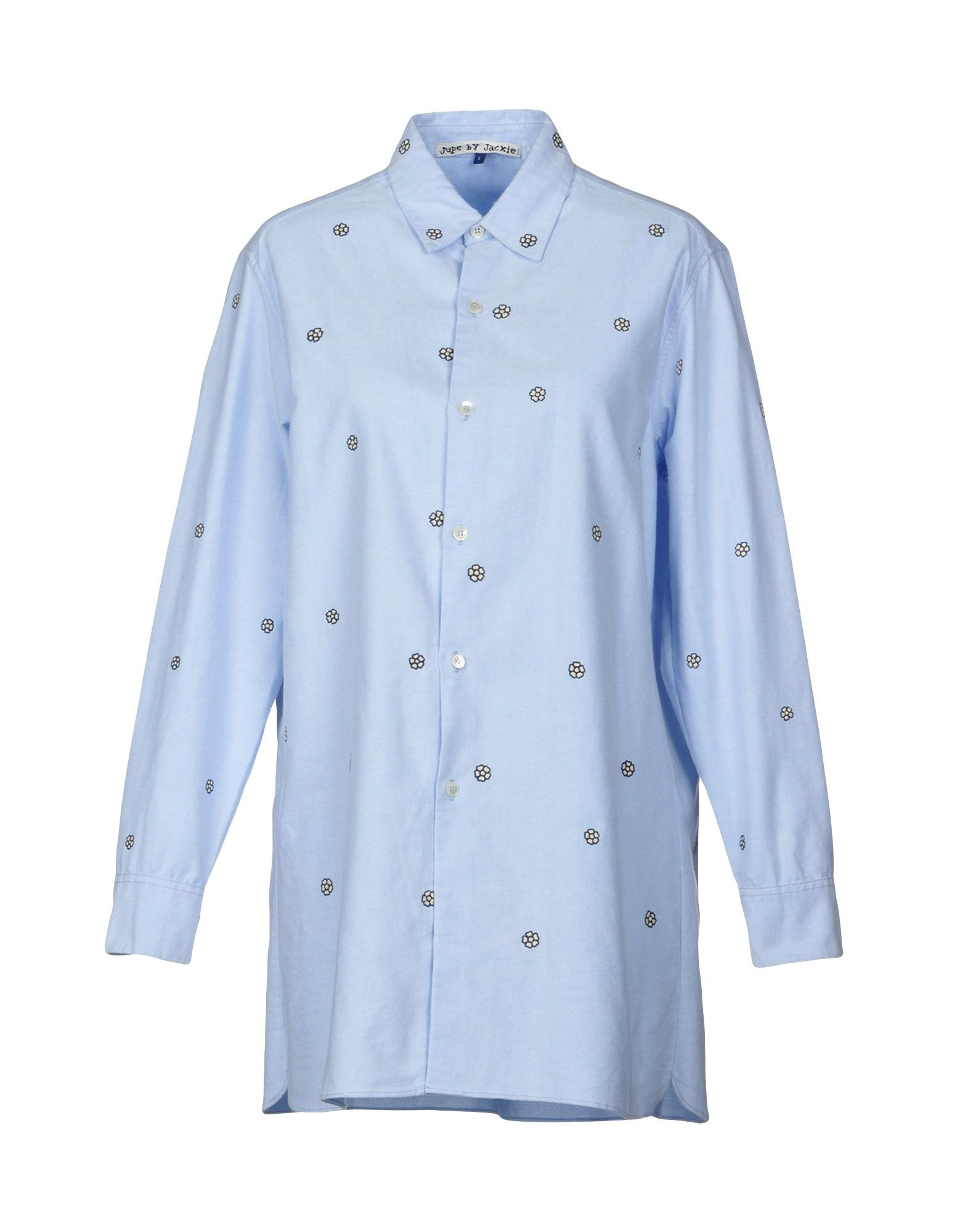 JUPE BY JACKIE Solid Color Shirts & Blouses in Sky Blue