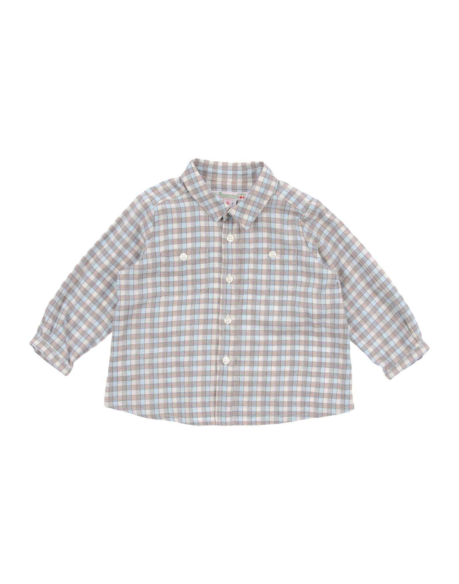 BONPOINT Checked Shirt in Beige