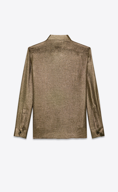 SAINT LAURENT Classic Shirts Man Shirt in gold Lurex b_V4