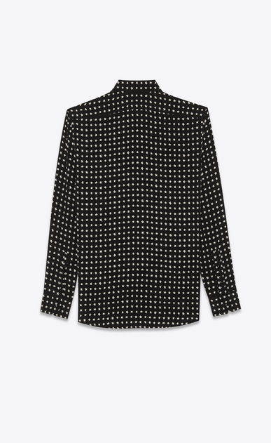SAINT LAURENT Classic Shirts Man Shirt with YSL star print in black b_V4