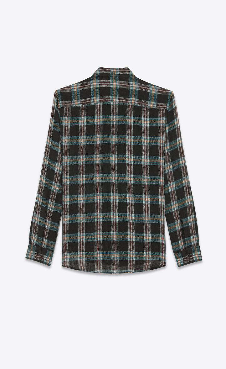 19e68b4e86 Oversized Checked Shirt In Black Wool