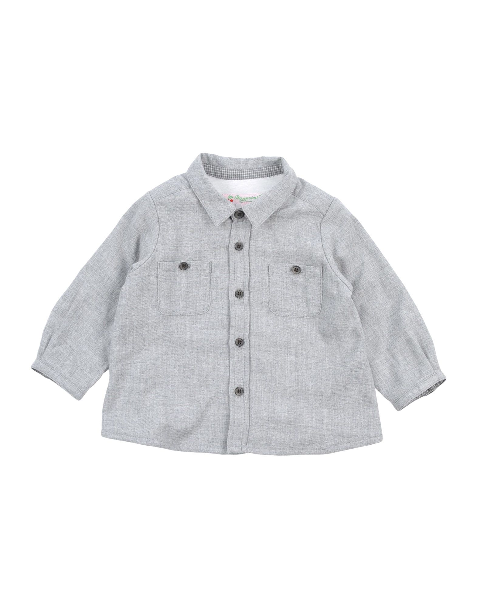 BONPOINT Solid Color Shirt in Grey