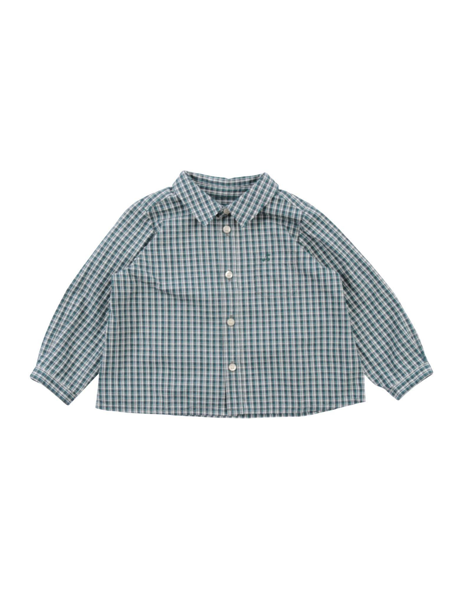 BONPOINT Checked Shirt in Dark Green