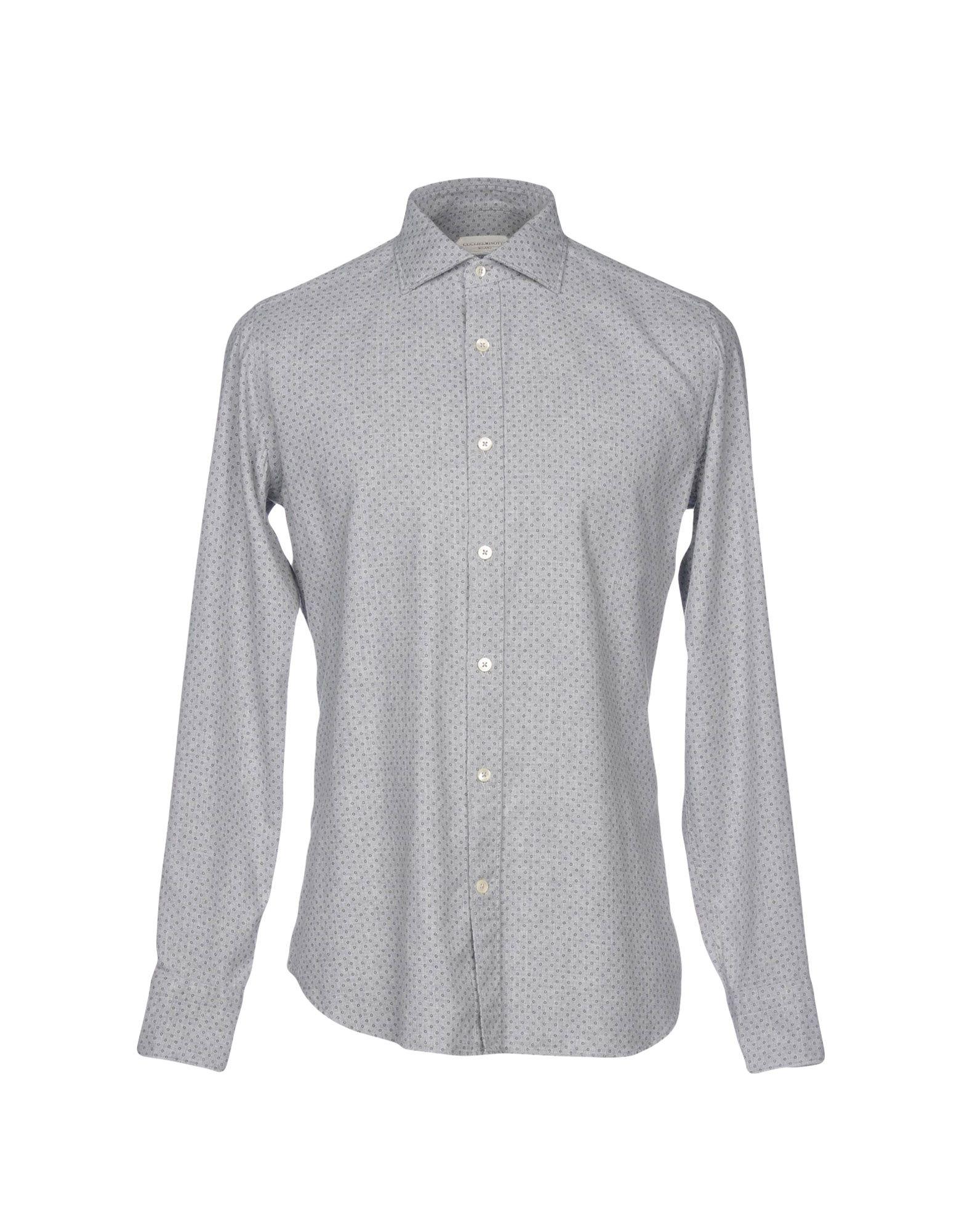 《送料無料》GUGLIELMINOTTI メンズ シャツ ライトグレー 42 コットン 100%