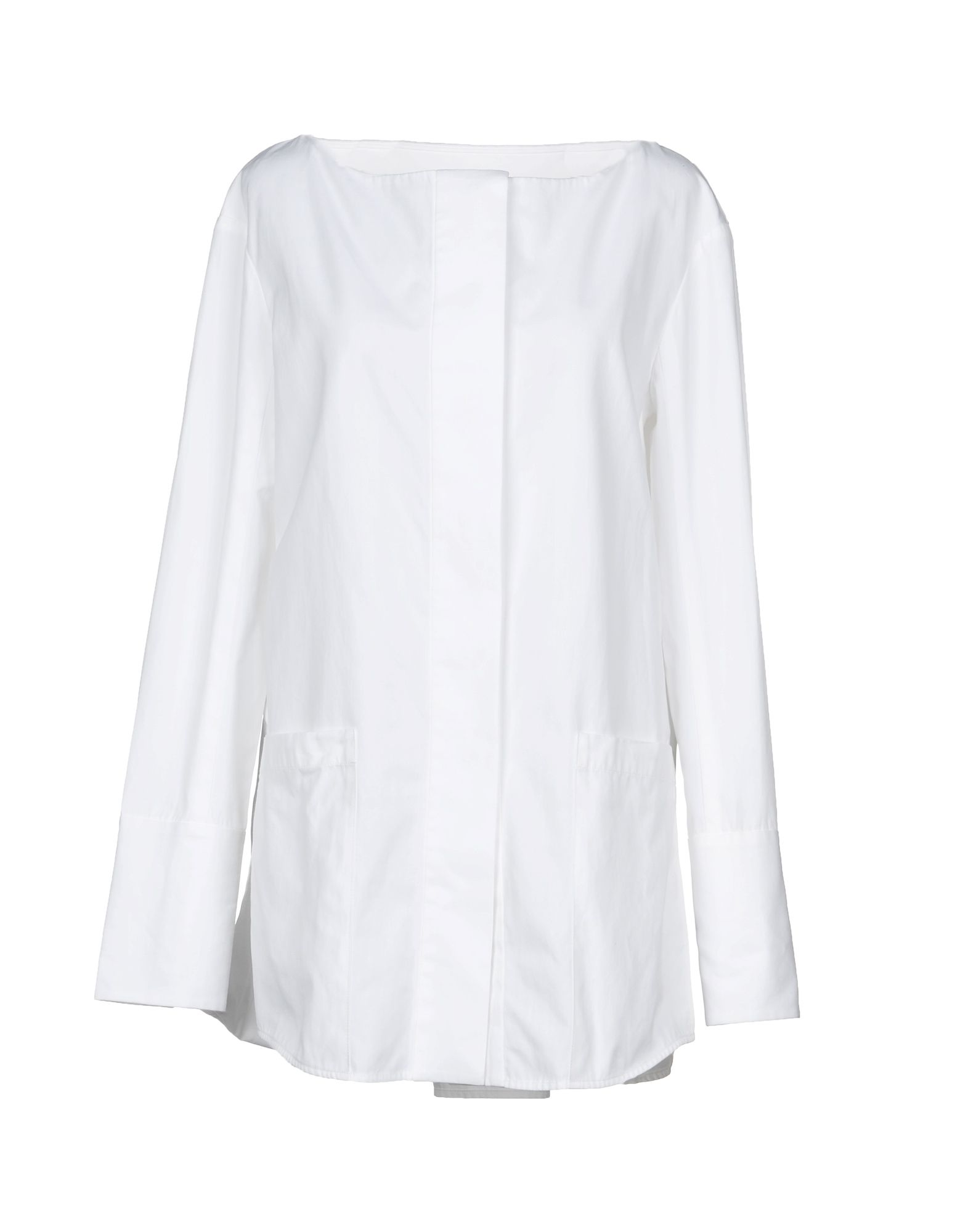 PROTAGONIST Solid Color Shirts & Blouses in White
