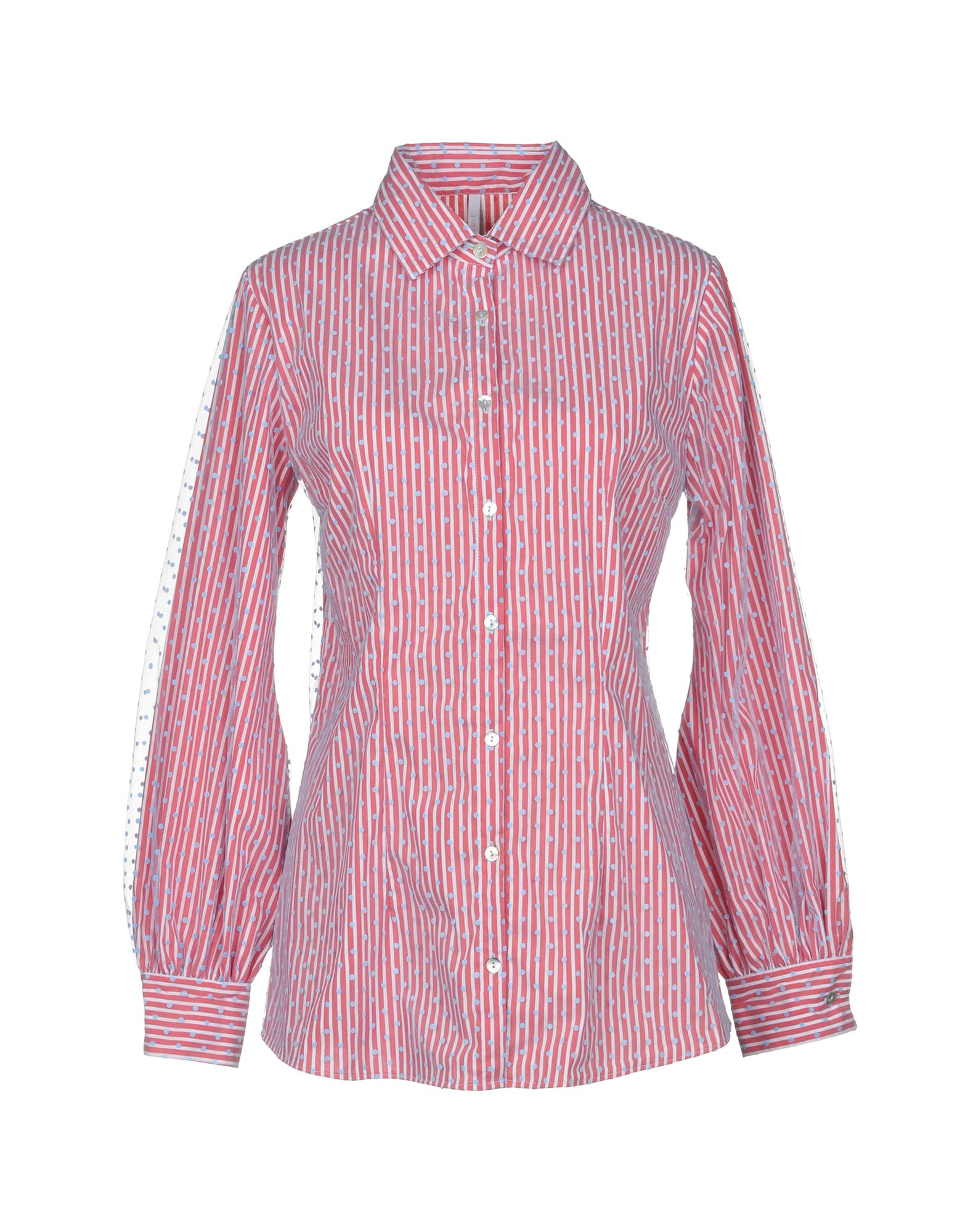 ALCOOLIQUE Striped Shirt in Red