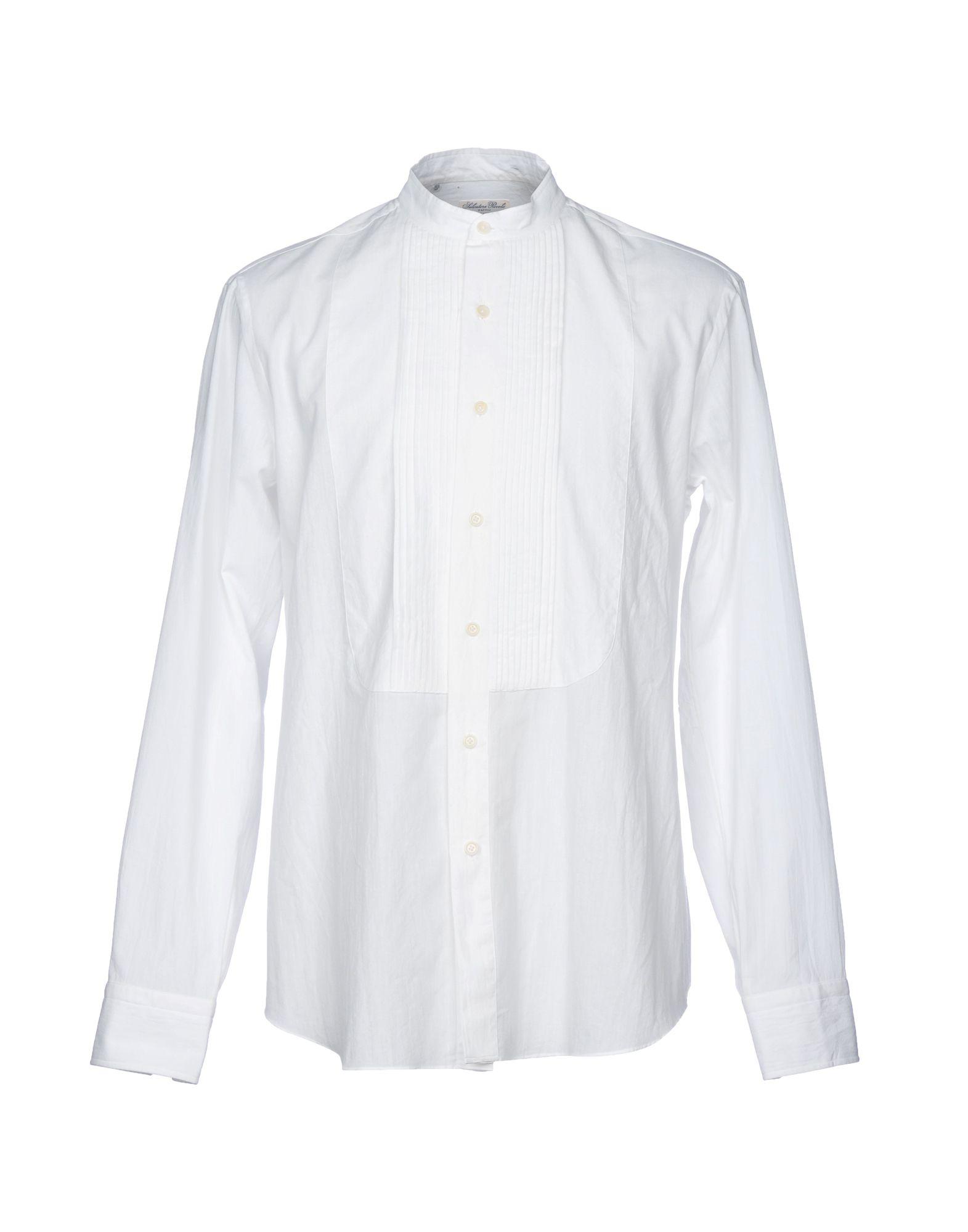 SALVATORE PICCOLO Solid Color Shirt in White