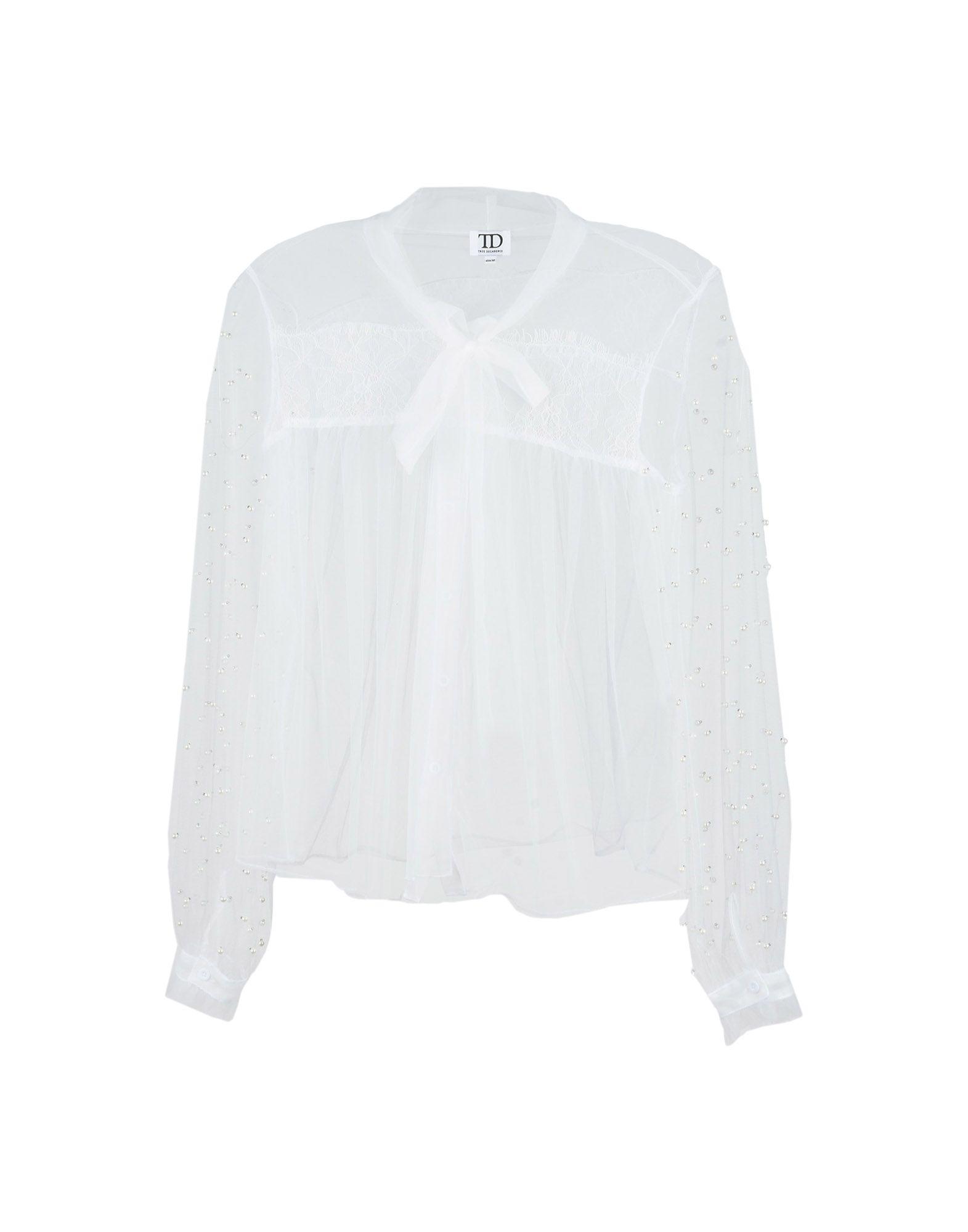 《送料無料》TD TRUE DECADENCE レディース シャツ ホワイト S ポリエステル 100%