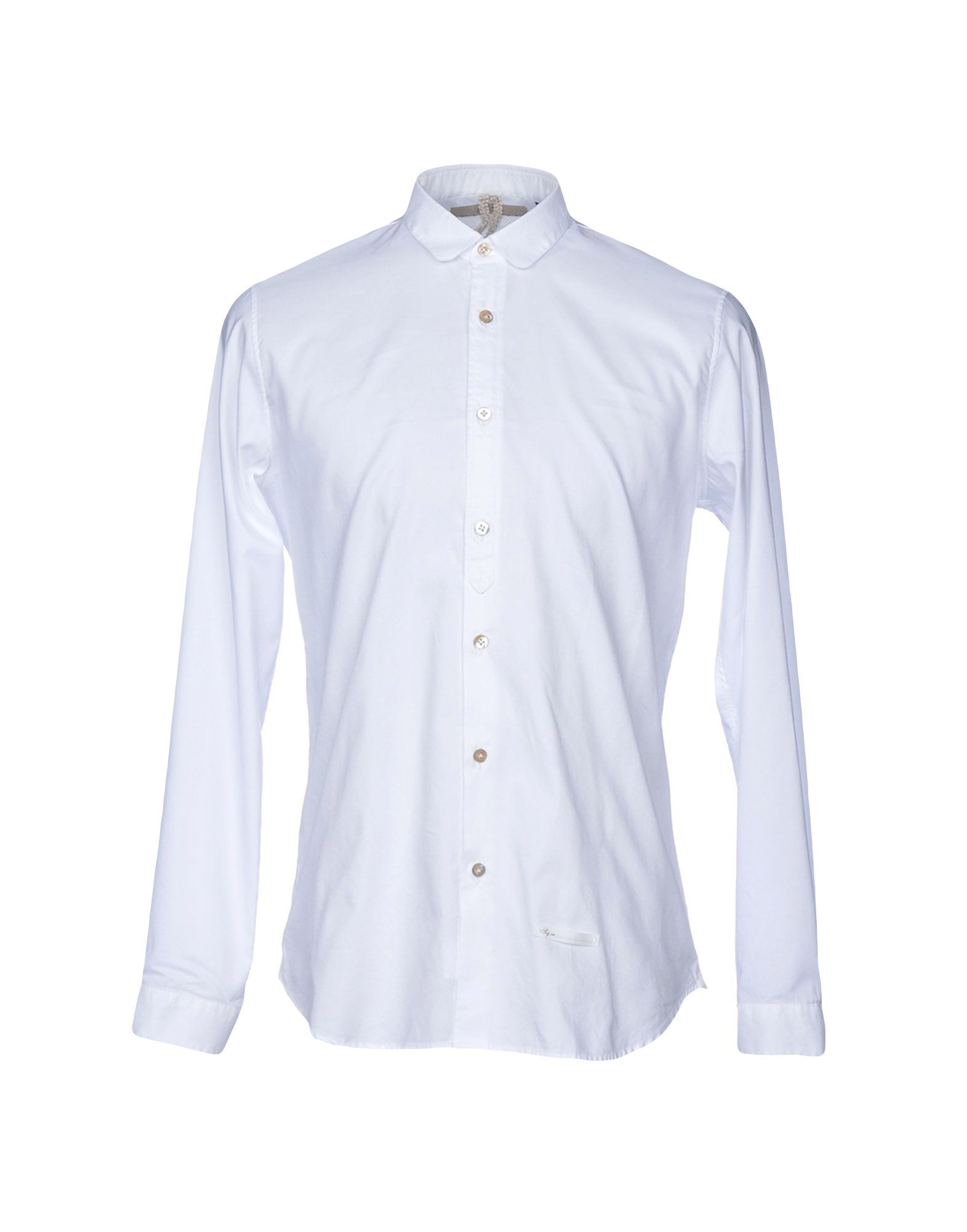 DNL Solid Color Shirt in White