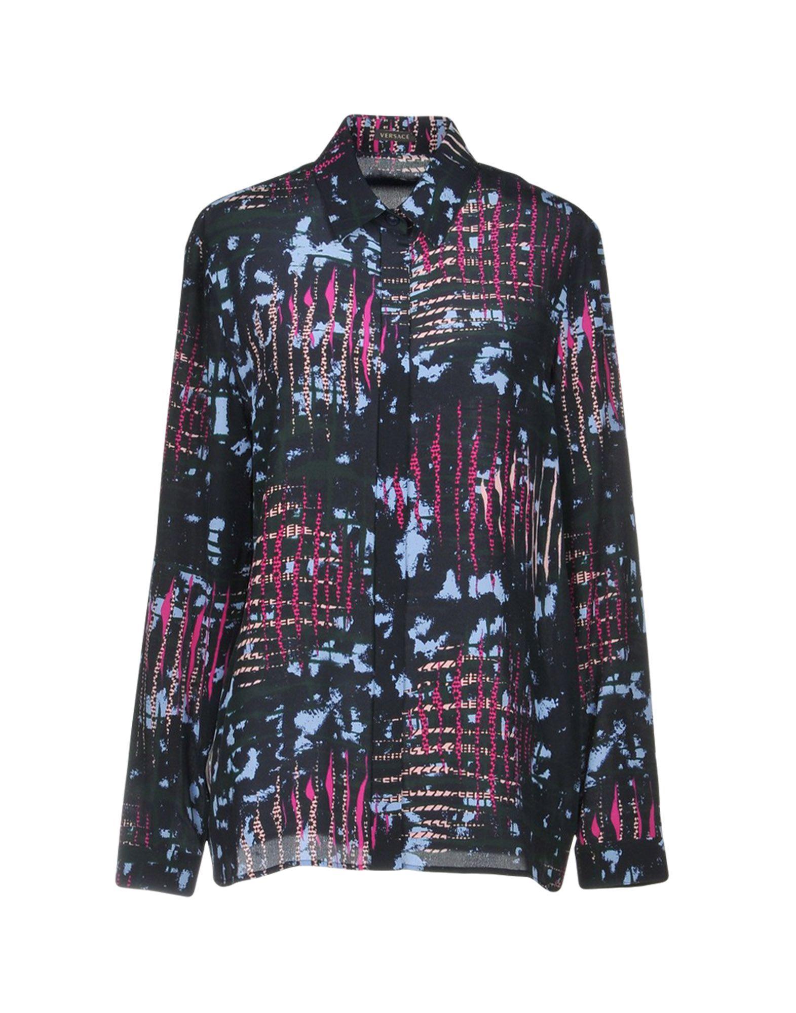 VERSACE Pубашка футболка versace разноцветный