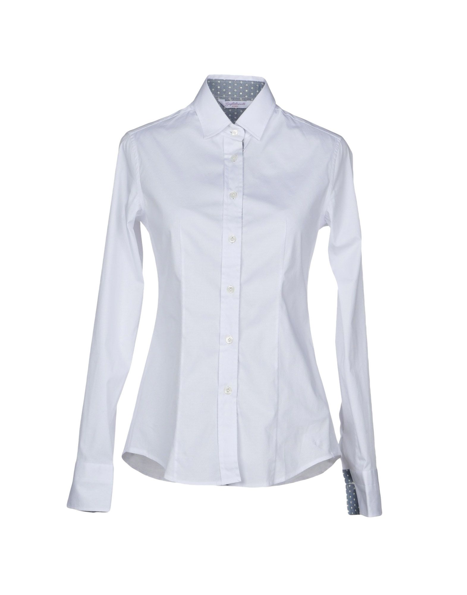 GUGLIELMINOTTI Solid Color Shirts & Blouses in White