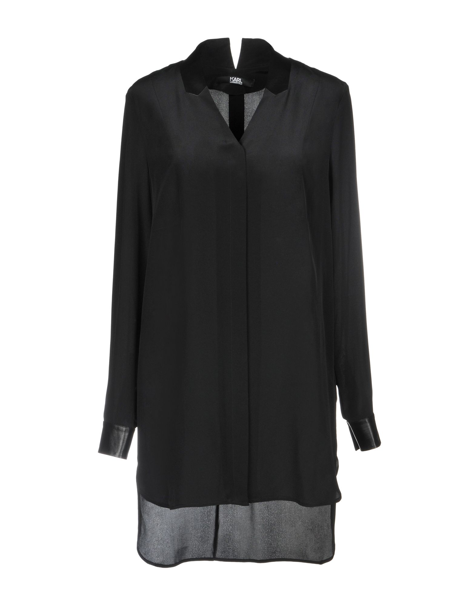 Silk Shirts & Blouses, Black