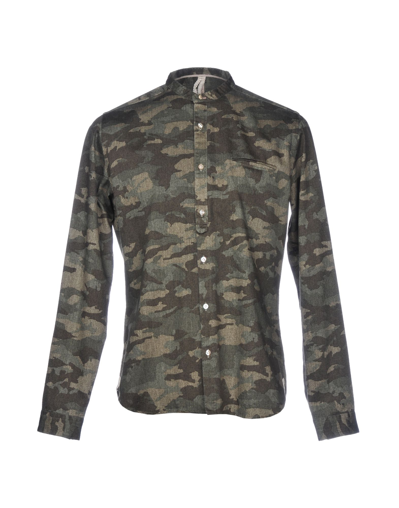 DNL Patterned Shirt in Military Green