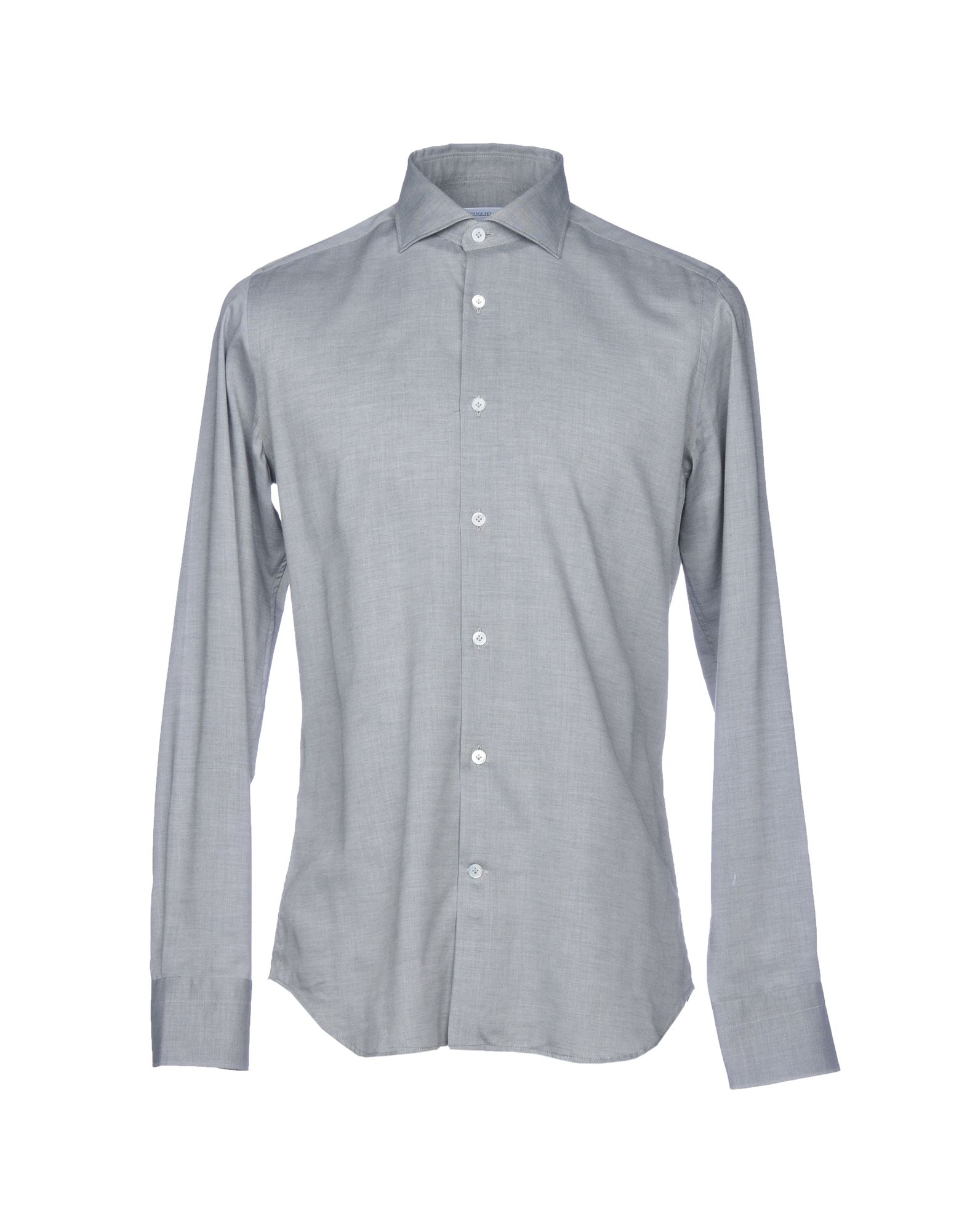 GUGLIELMINOTTI Solid Color Shirt in Grey