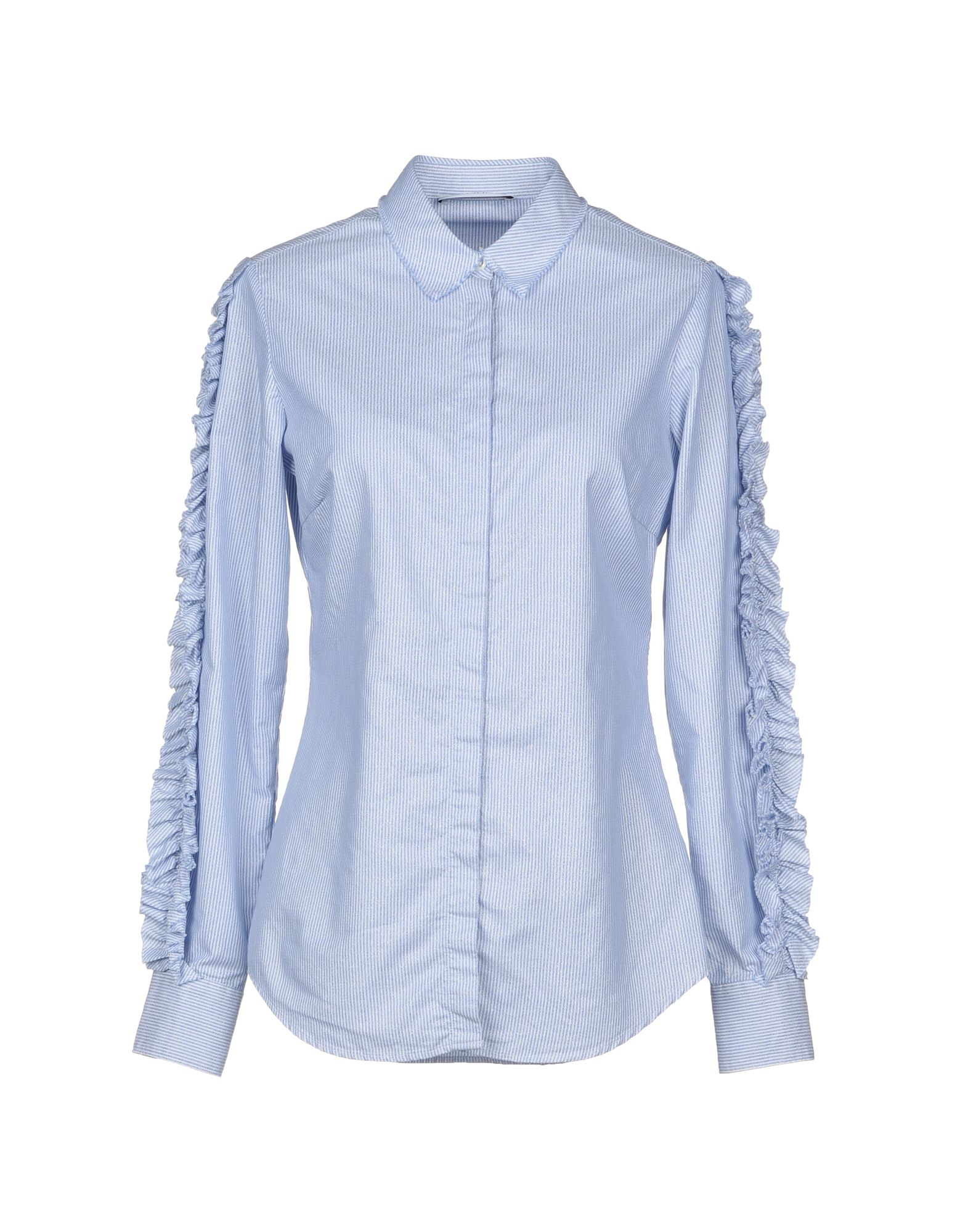AGLINI Striped Shirt in Sky Blue