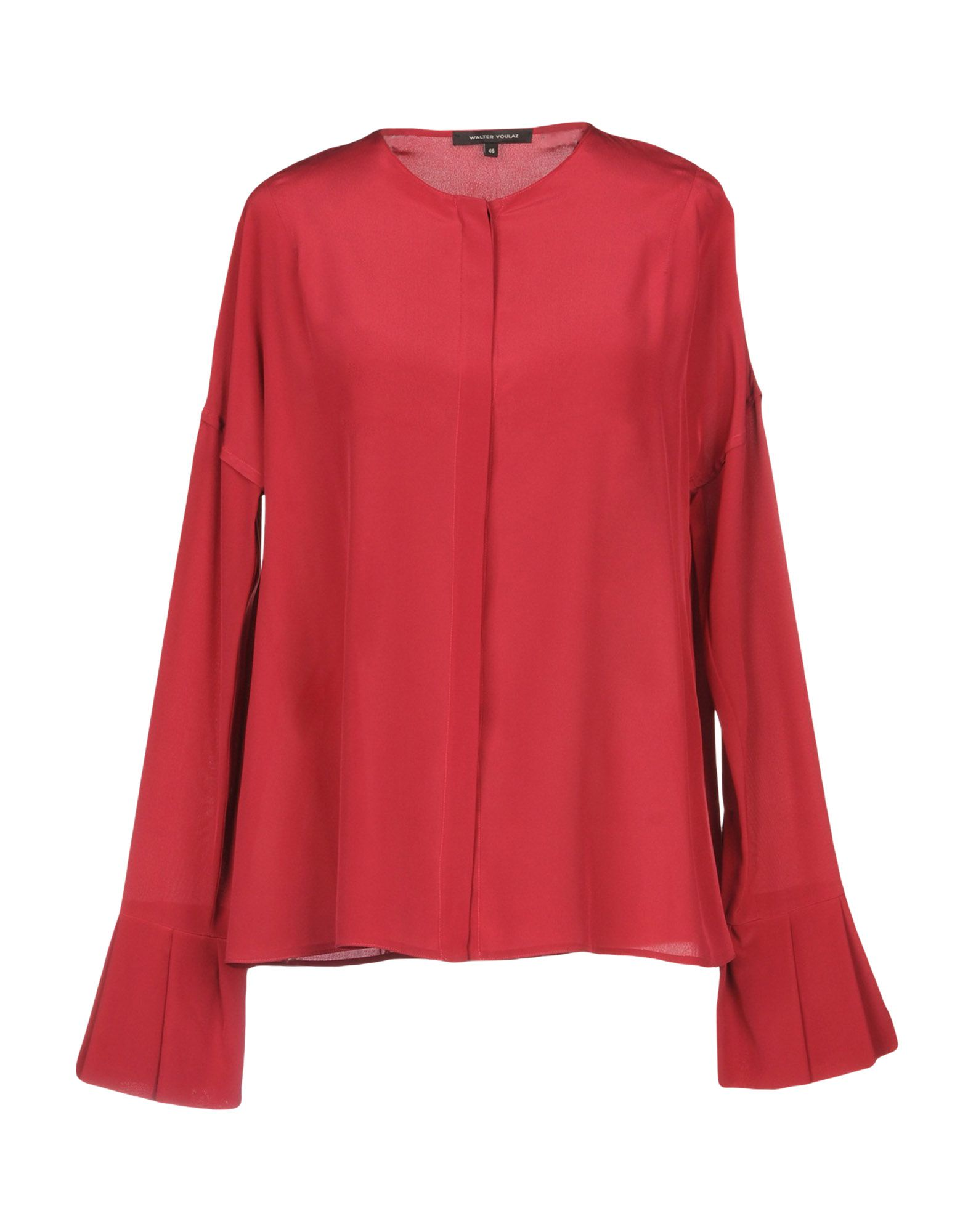 WALTER VOULAZ Silk Shirts & Blouses in Brick Red