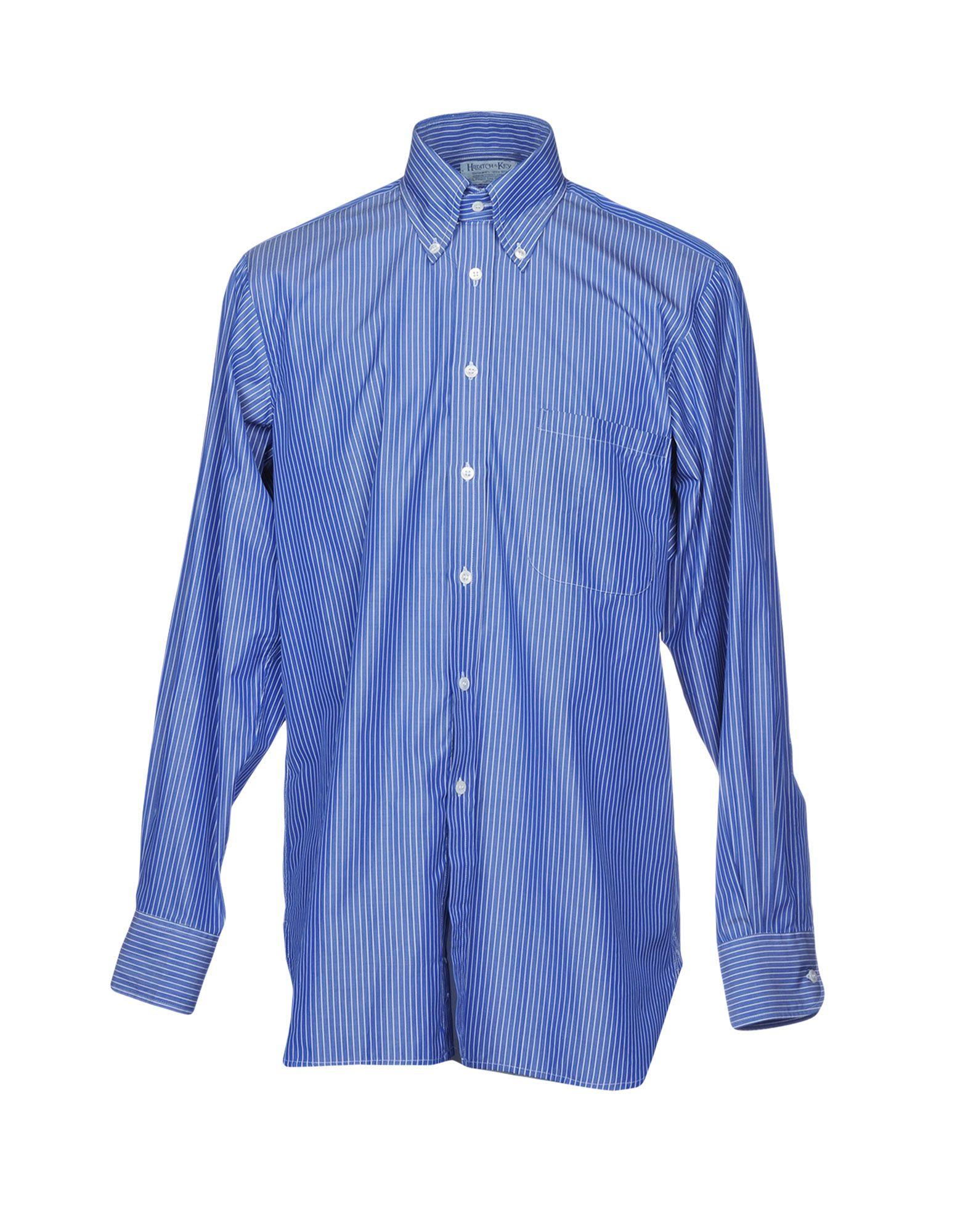 HILDITCH & KEY Striped Shirt in Blue