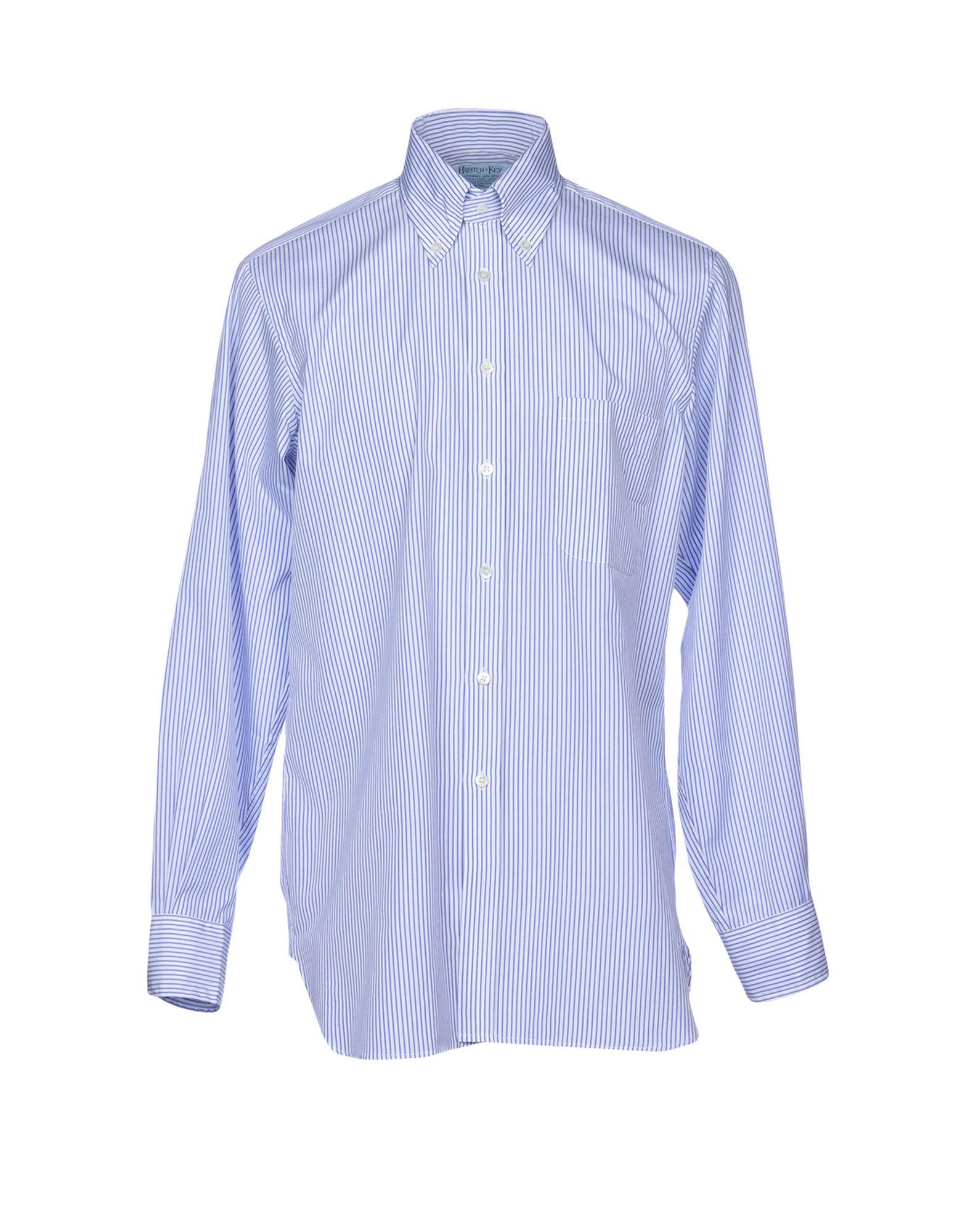 HILDITCH & KEY Striped Shirt in Azure
