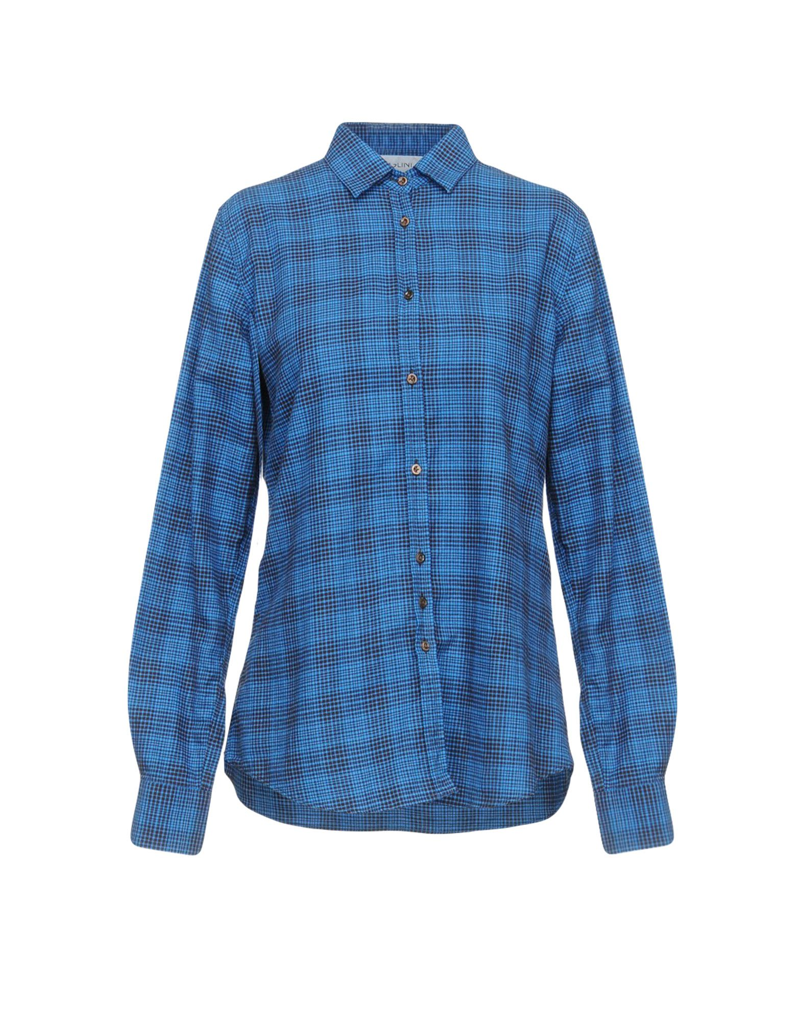 AGLINI Checked Shirt in Blue
