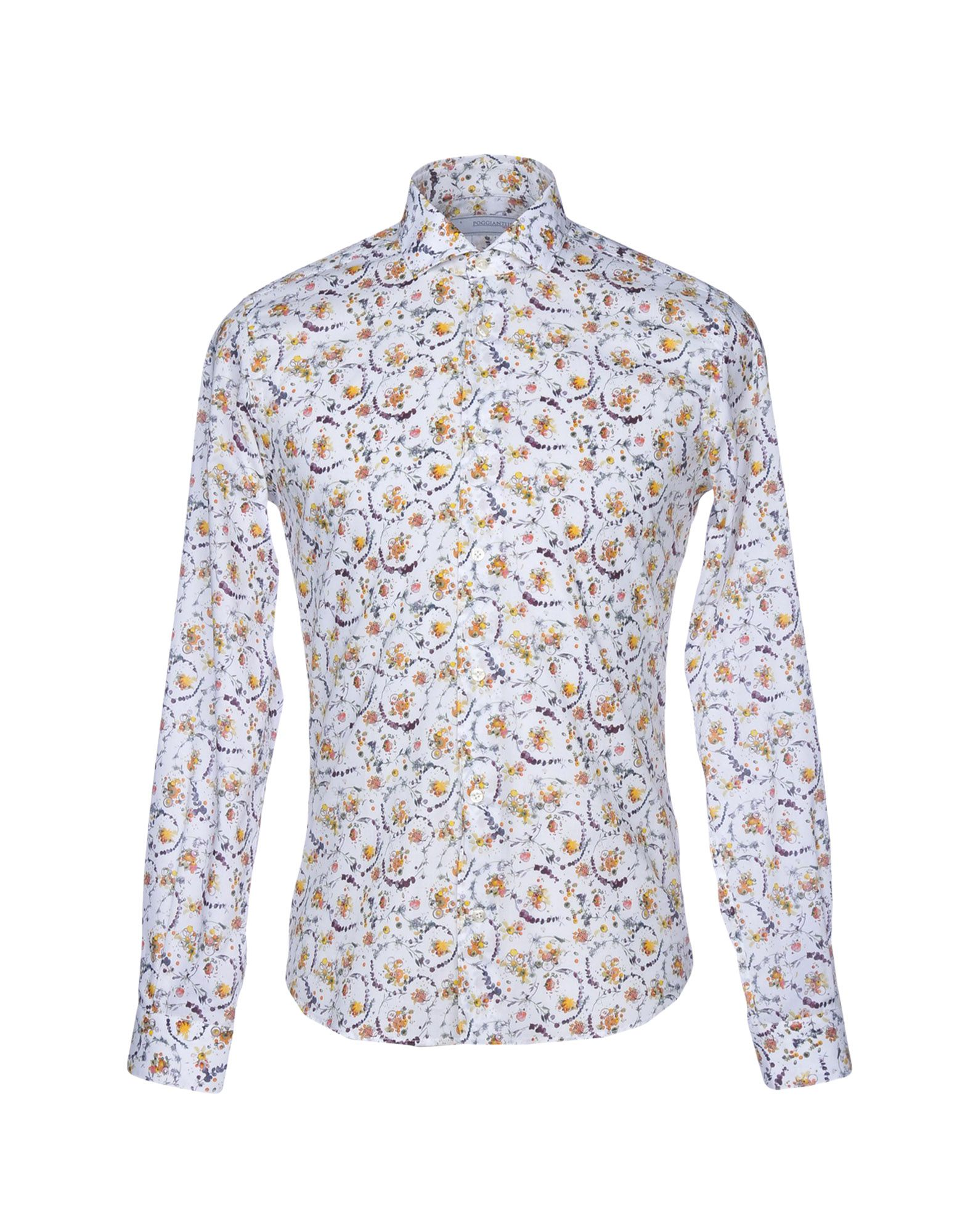 POGGIANTI Patterned Shirt in White