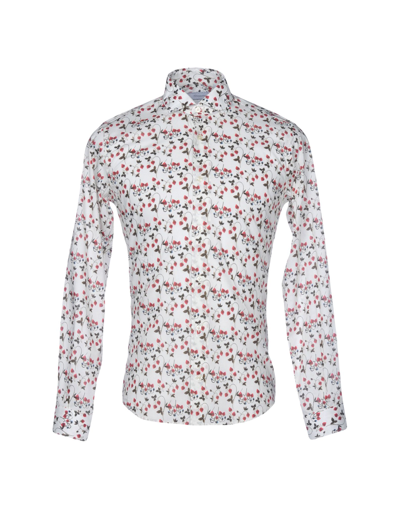 POGGIANTI Patterned Shirt in Ivory