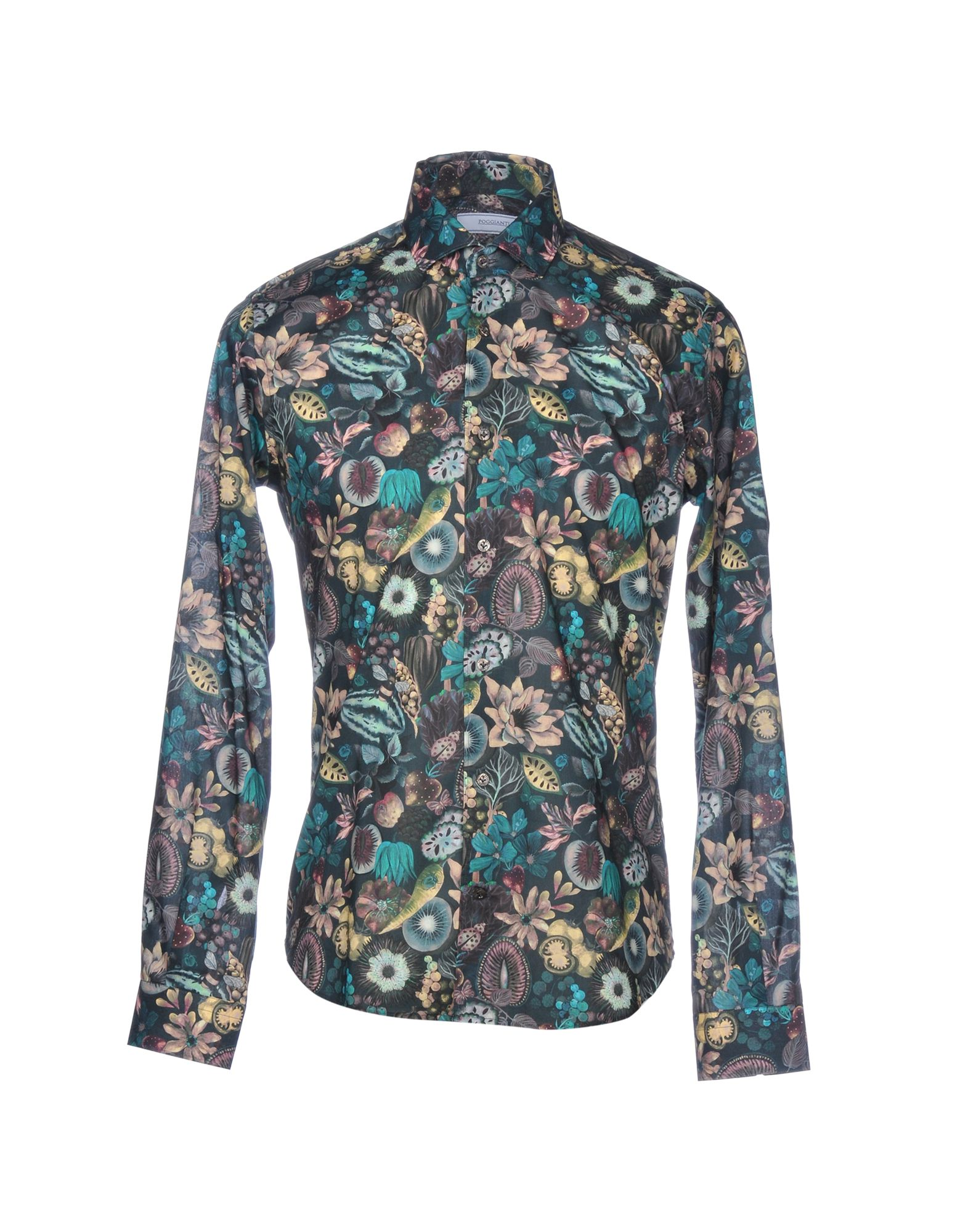 POGGIANTI Patterned Shirt in Green